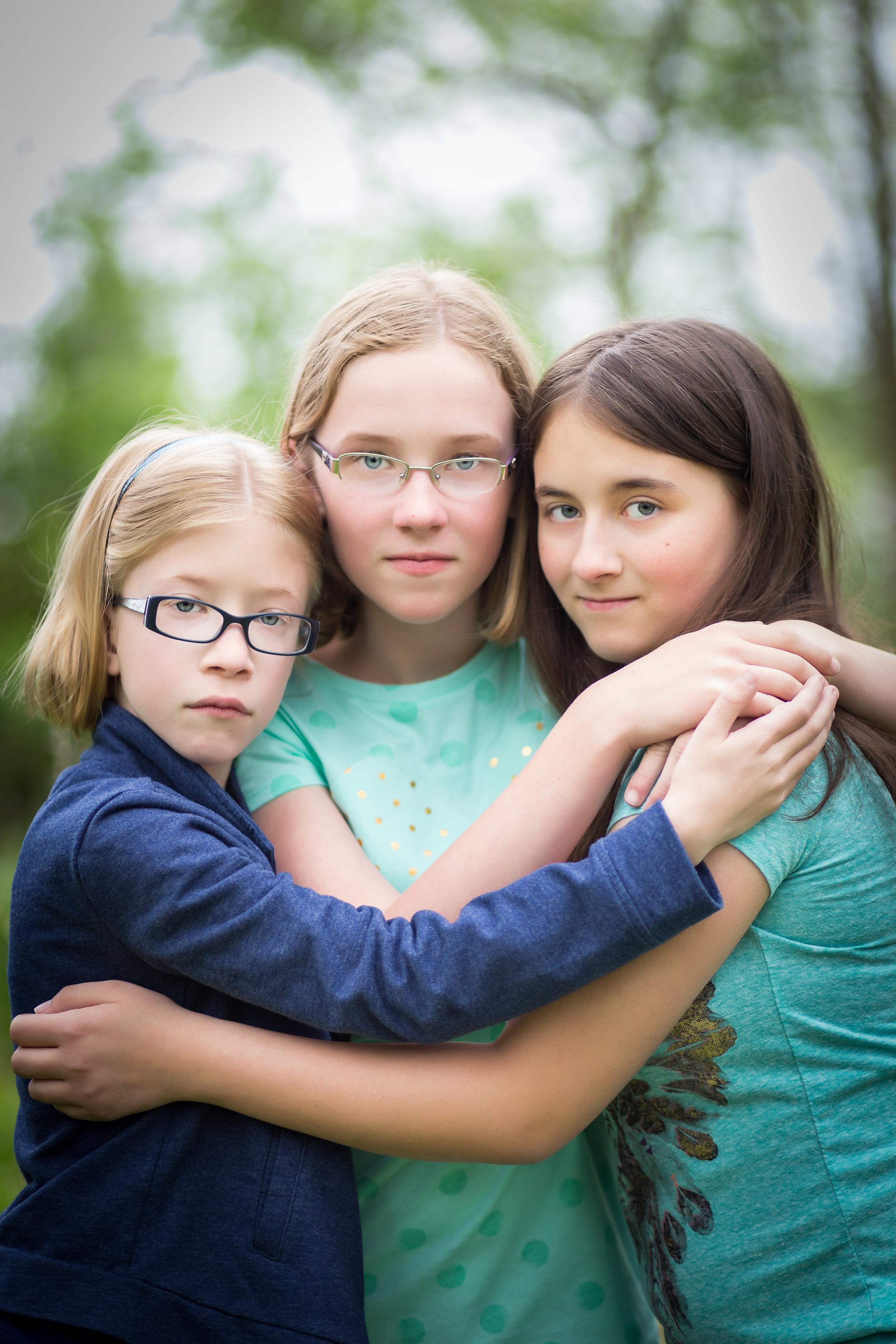 tween portrait of three girls