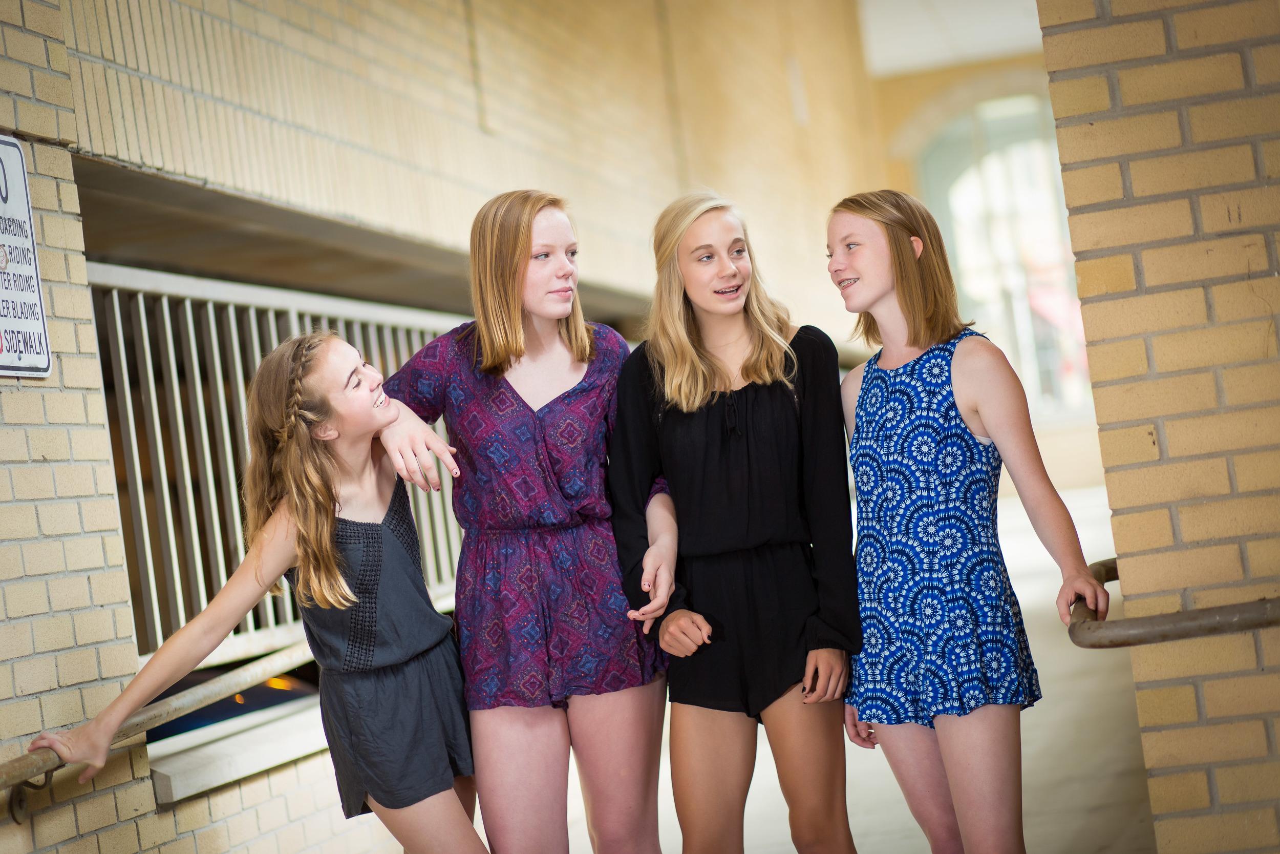 group tween portrait of four girls