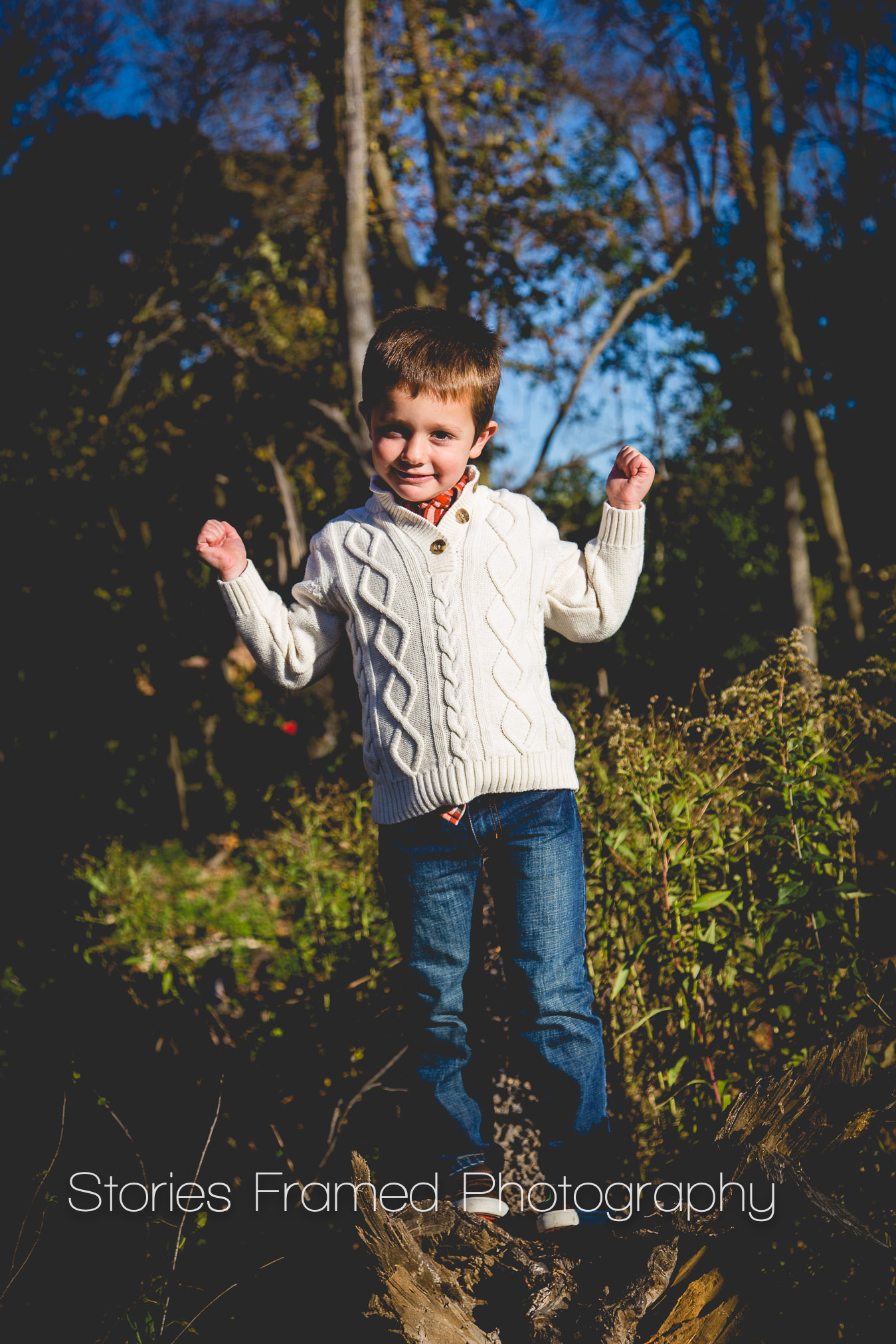 Stories Framed Photography | boy in the woods | John