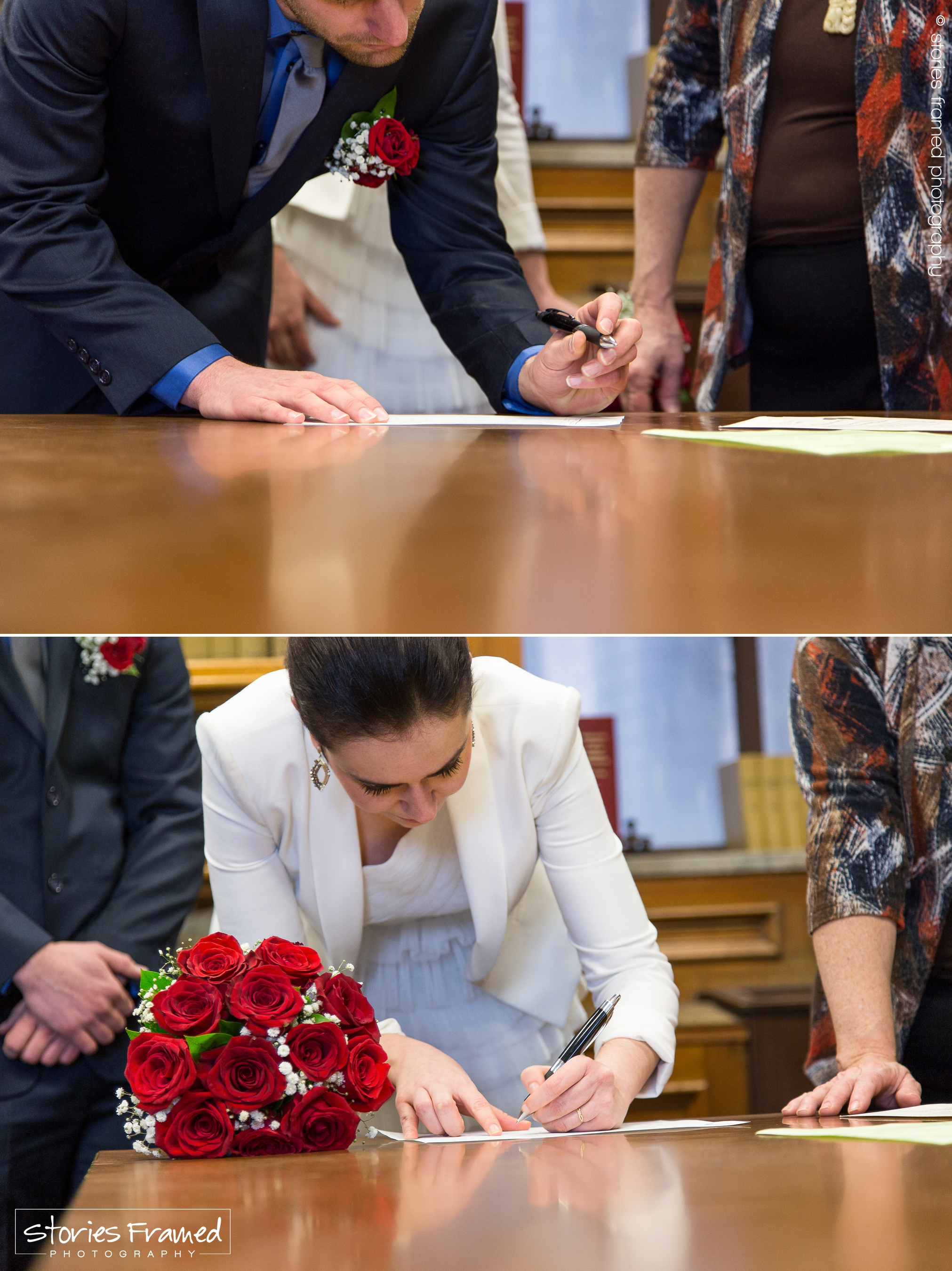 Signing their marriage certificate was merely the beginning-of-the-end of Christopher and Claudia's   bellisima  Love Story.