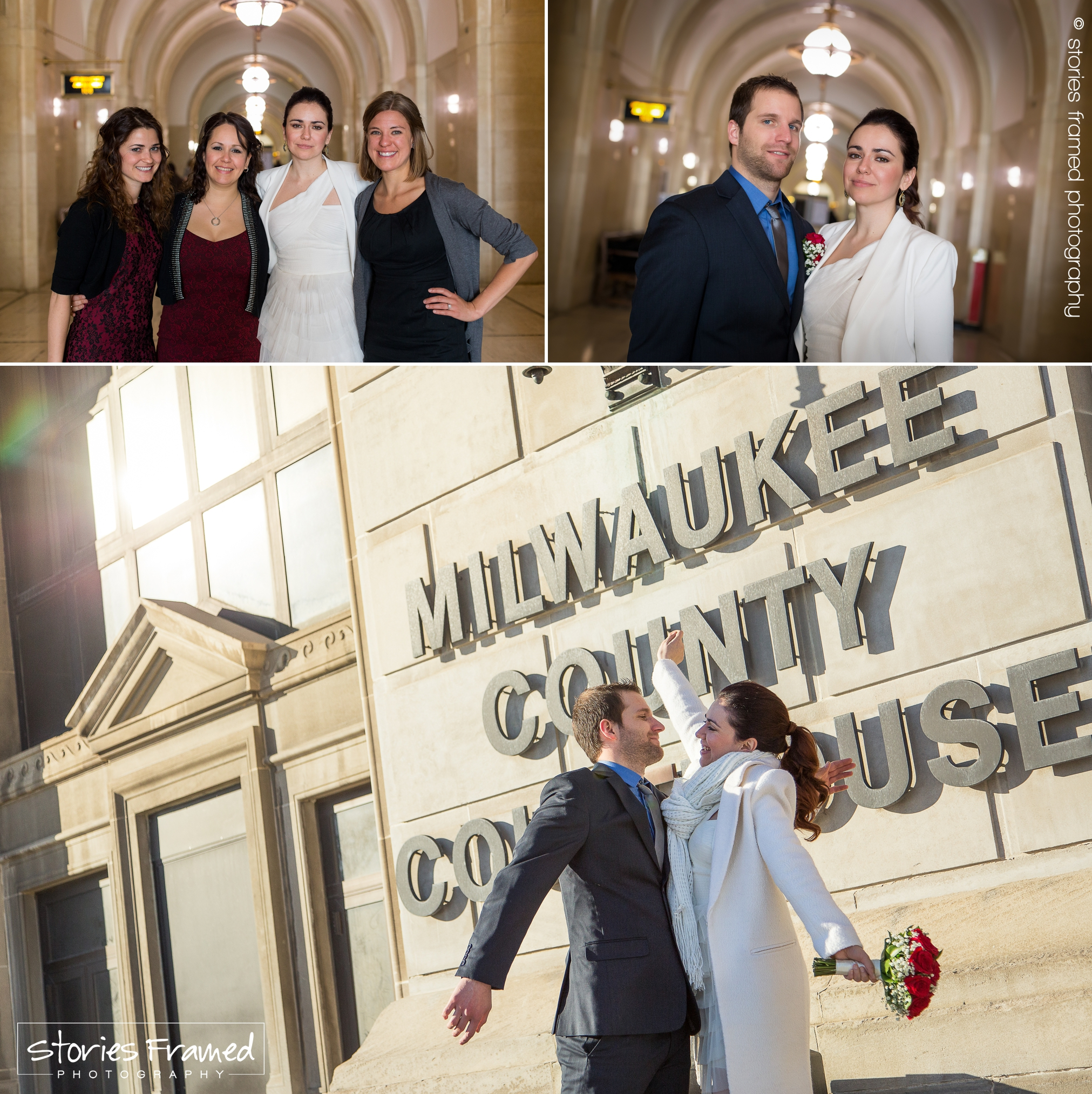 Friends, fiances and married in Milwaukee! Look at that joy! Felicidades!