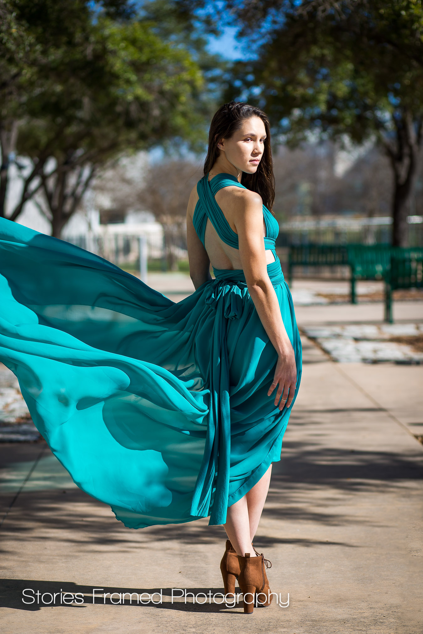 Imaging 2017 | senior girl portrait windy day gown