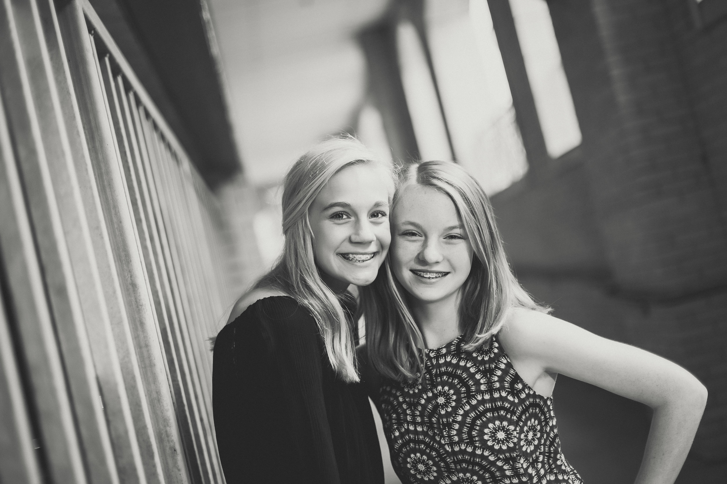 tween portrait of two girls