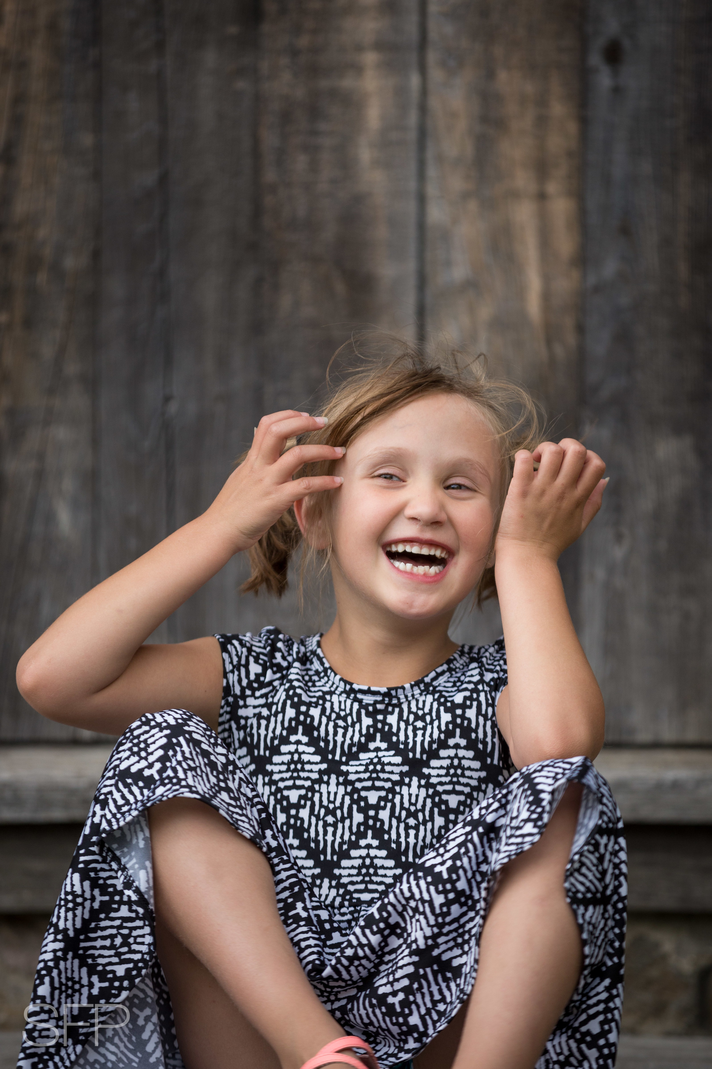 Stories Framed Photography little girl laughing