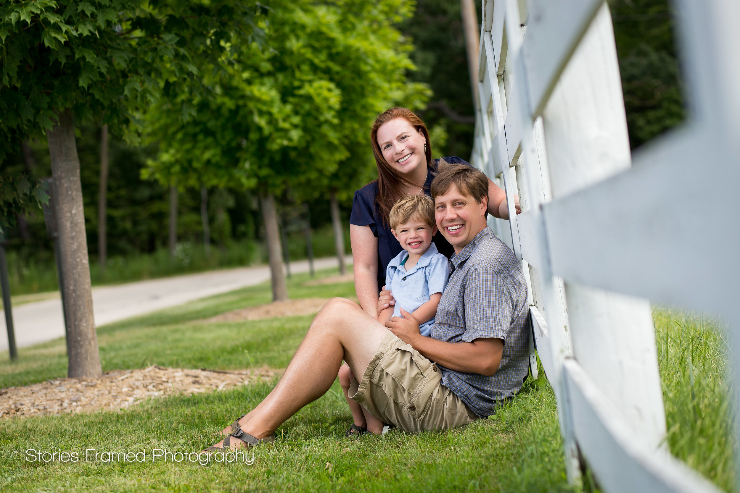 Family of 3 Portrait in a Park 2015