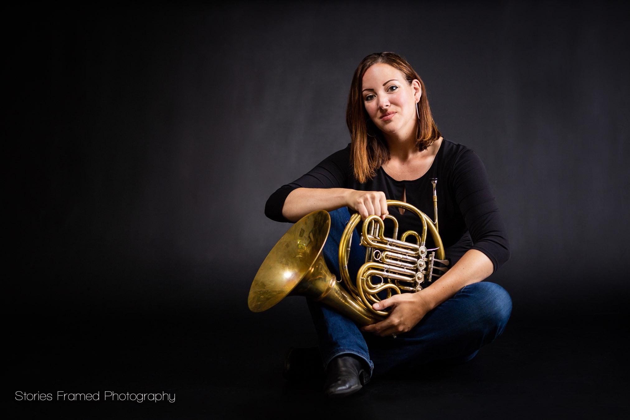 woman horn player
