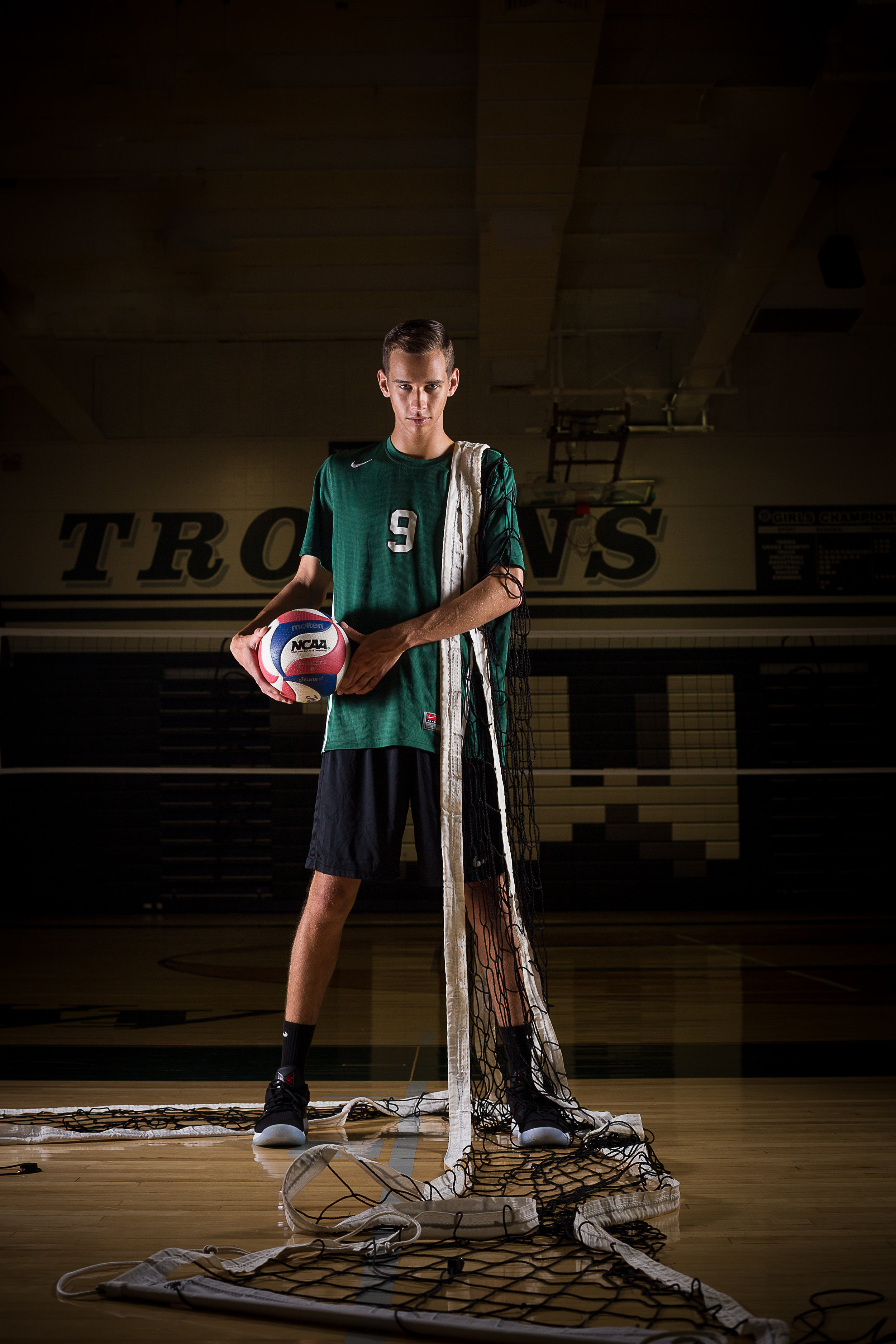 This image of Joe on the volleyball court is an award winning photo! It earned a SYNC Award of Excellence in March 2019.