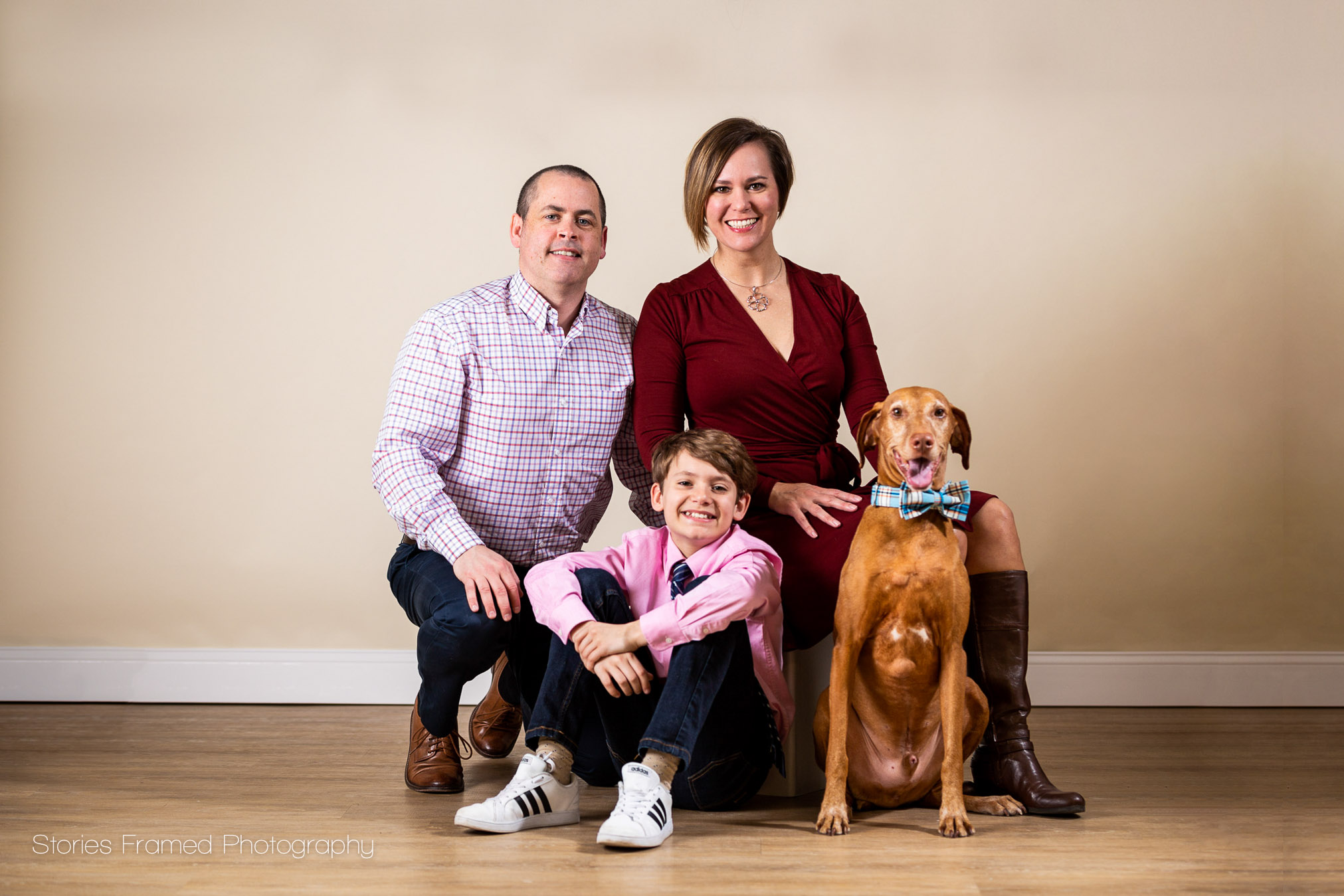 This family photo session was so fun and I loved that they included their dog.