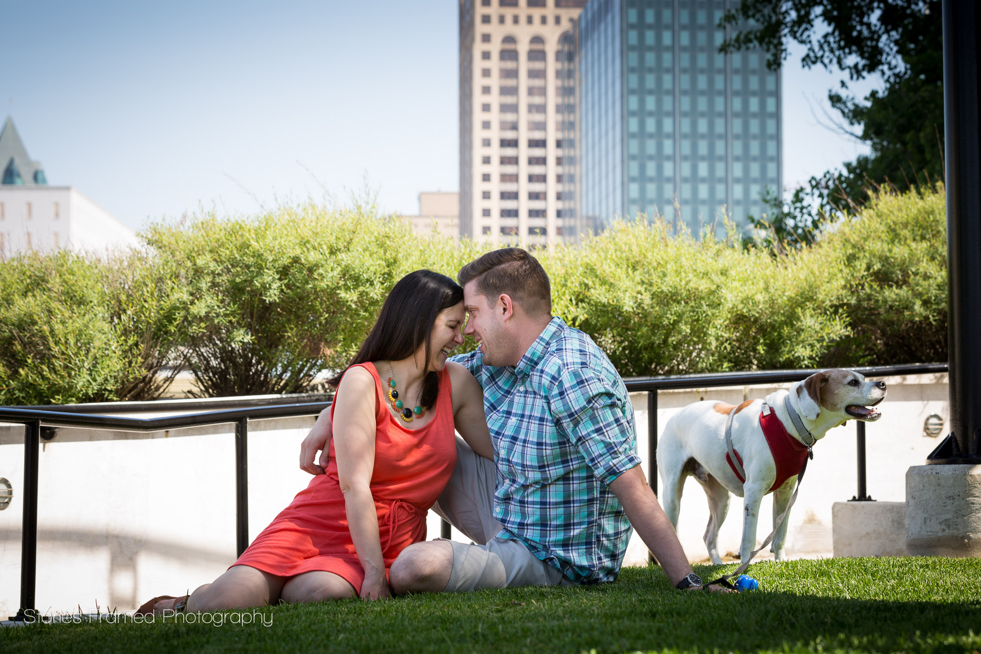 Meet Amanda, Dan, and their dog, Murphy and enjoy their family portraits.