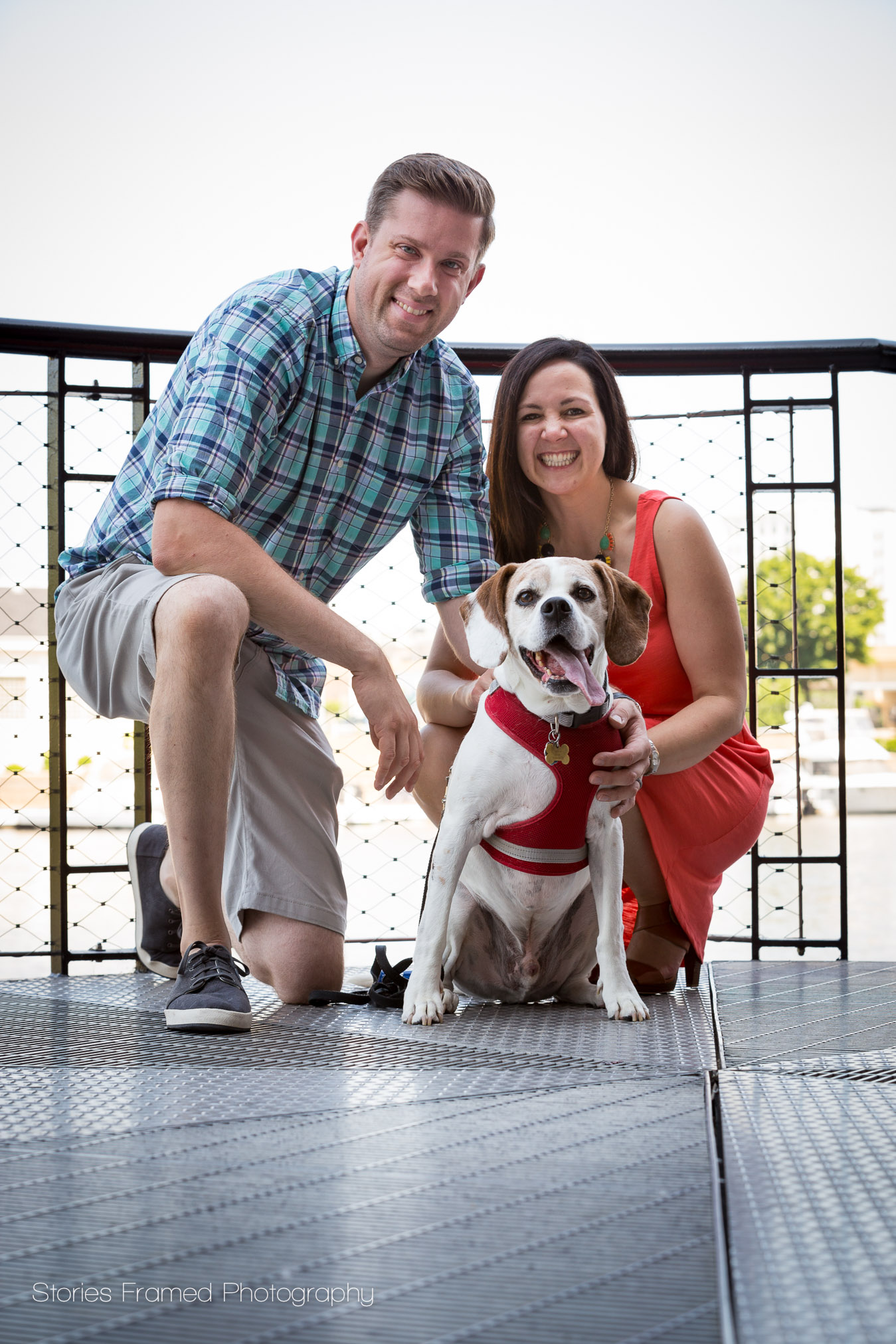 Big smiles and a wagging tongue for this family photo in the Third Ward.