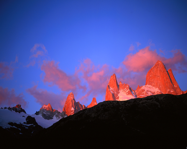 Beautiful clear weather predicted - this is the view of Fitzroy from the quaint town of El Chalten.