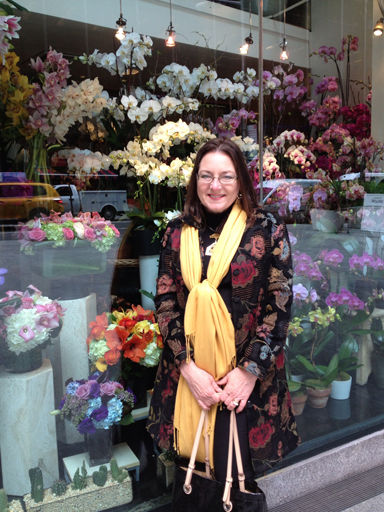 One thing Delise loves about New York City is all of the flower shops!