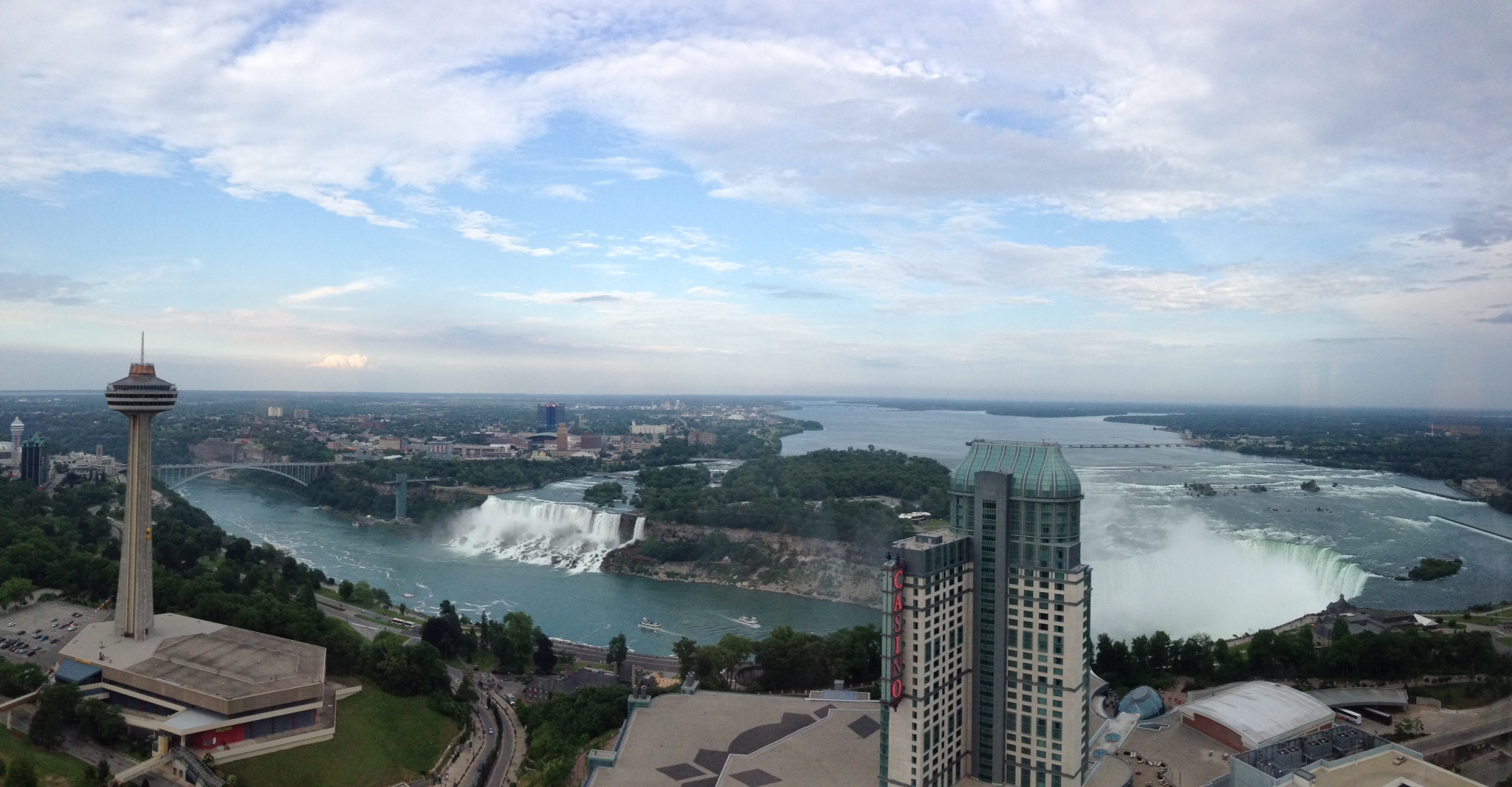 Niagara Falls from our room on the Canadian side