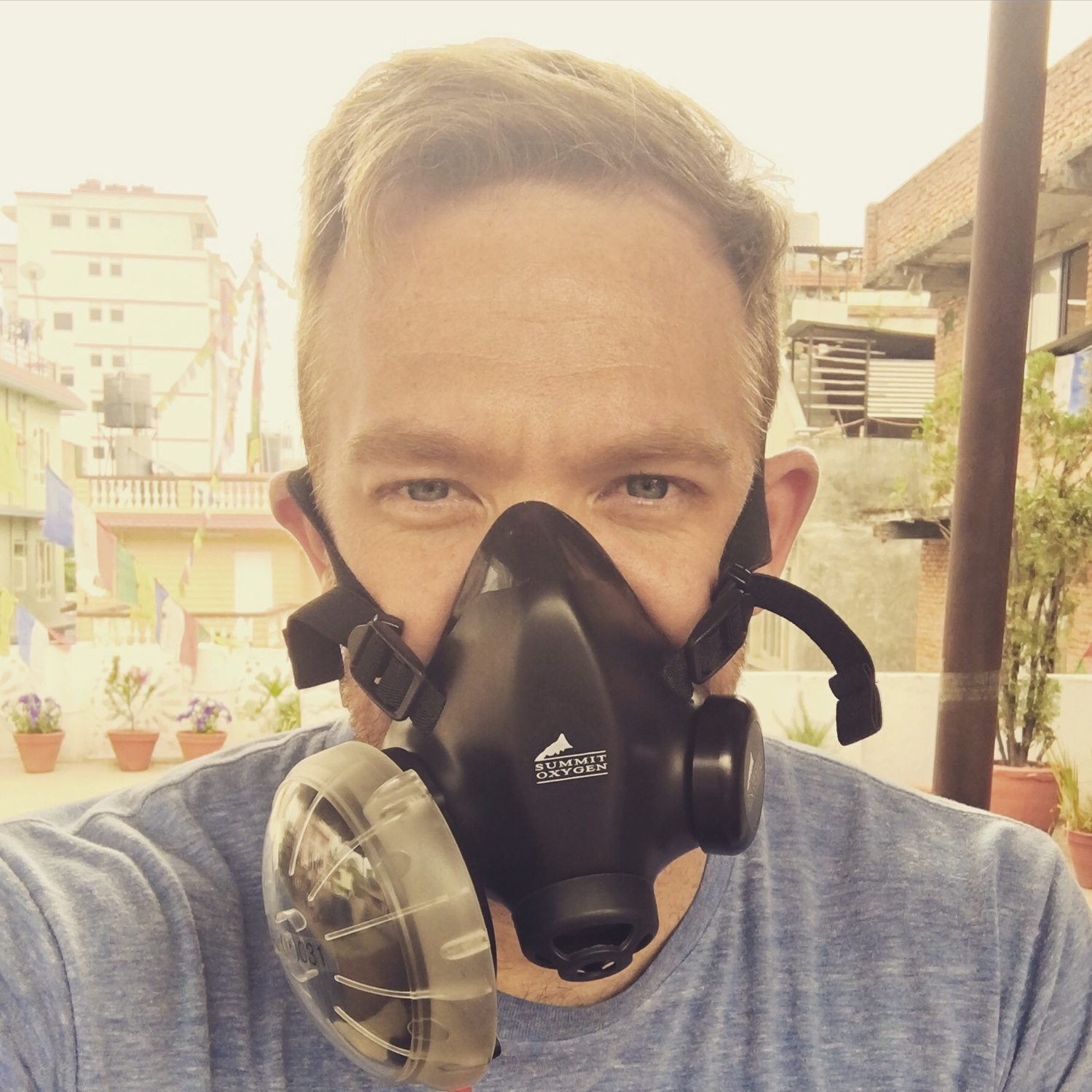 Testing out the new high altitude oxygen masks. Let's cook.