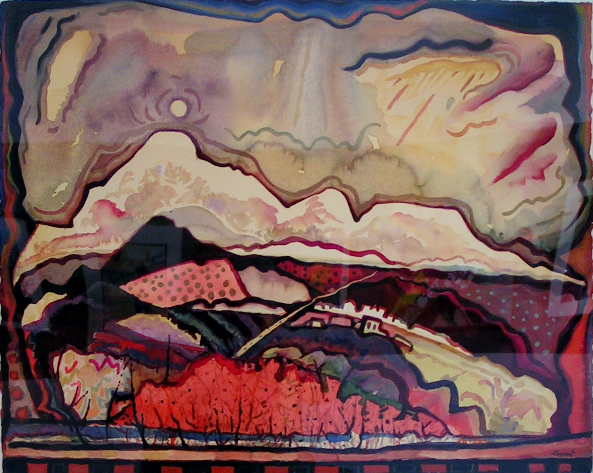 """""""An August Moon"""" by Bill Bryant. $1200   Winner of the Hank Stoer Award of Excellence, Jurors Choice."""