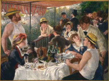 PIERRE-AUGUSTE RENOIR   Luncheon of the Boating Party  (1880–81)