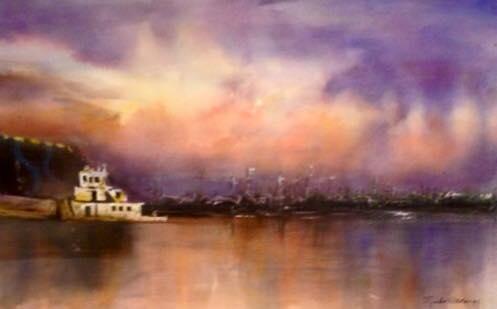 """Sunset on Lake Pontchartrain"" by Mieko Hathaway"