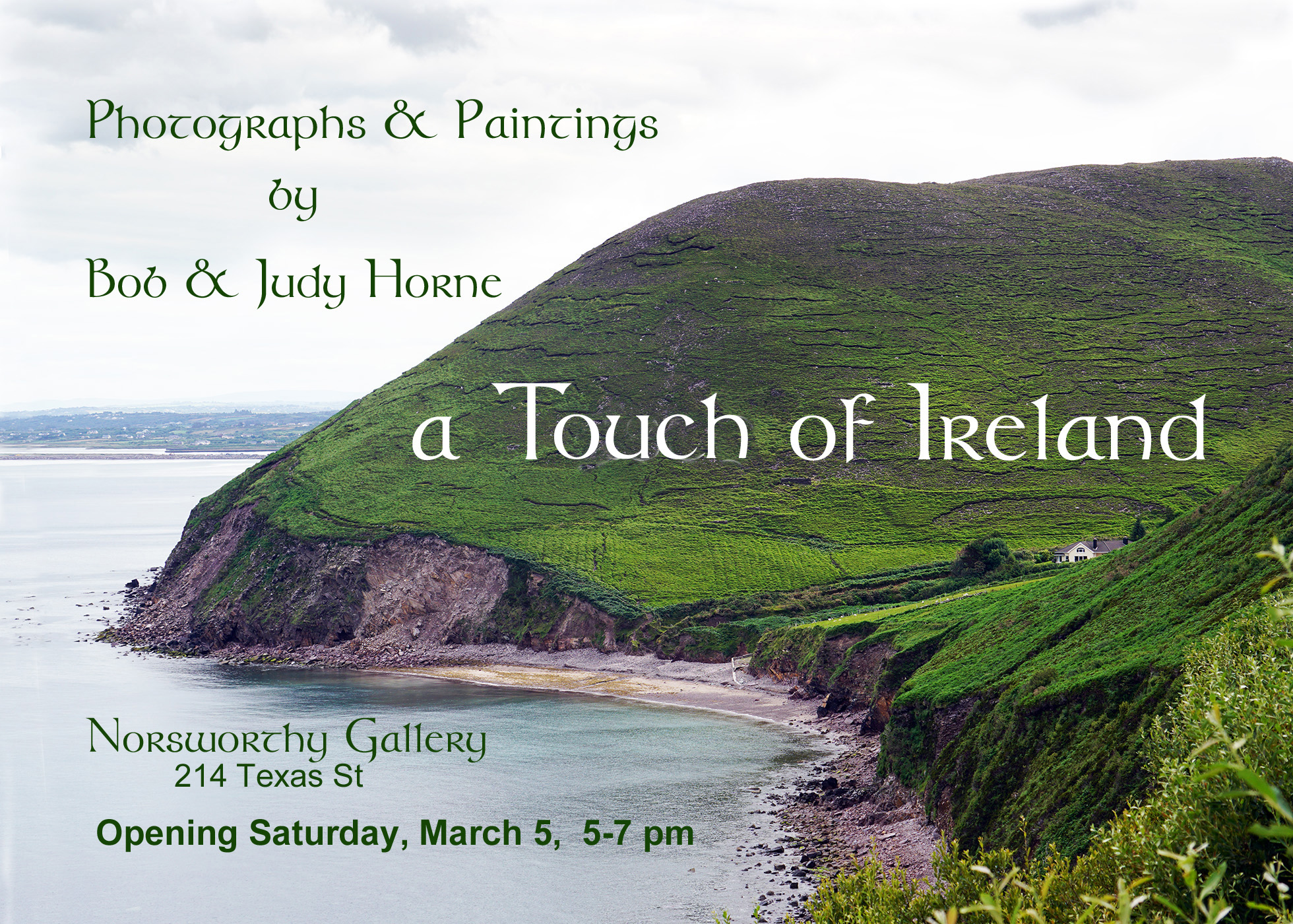 A Touch of Ireland at the Norsworthy Gallery in Shreveport, LA