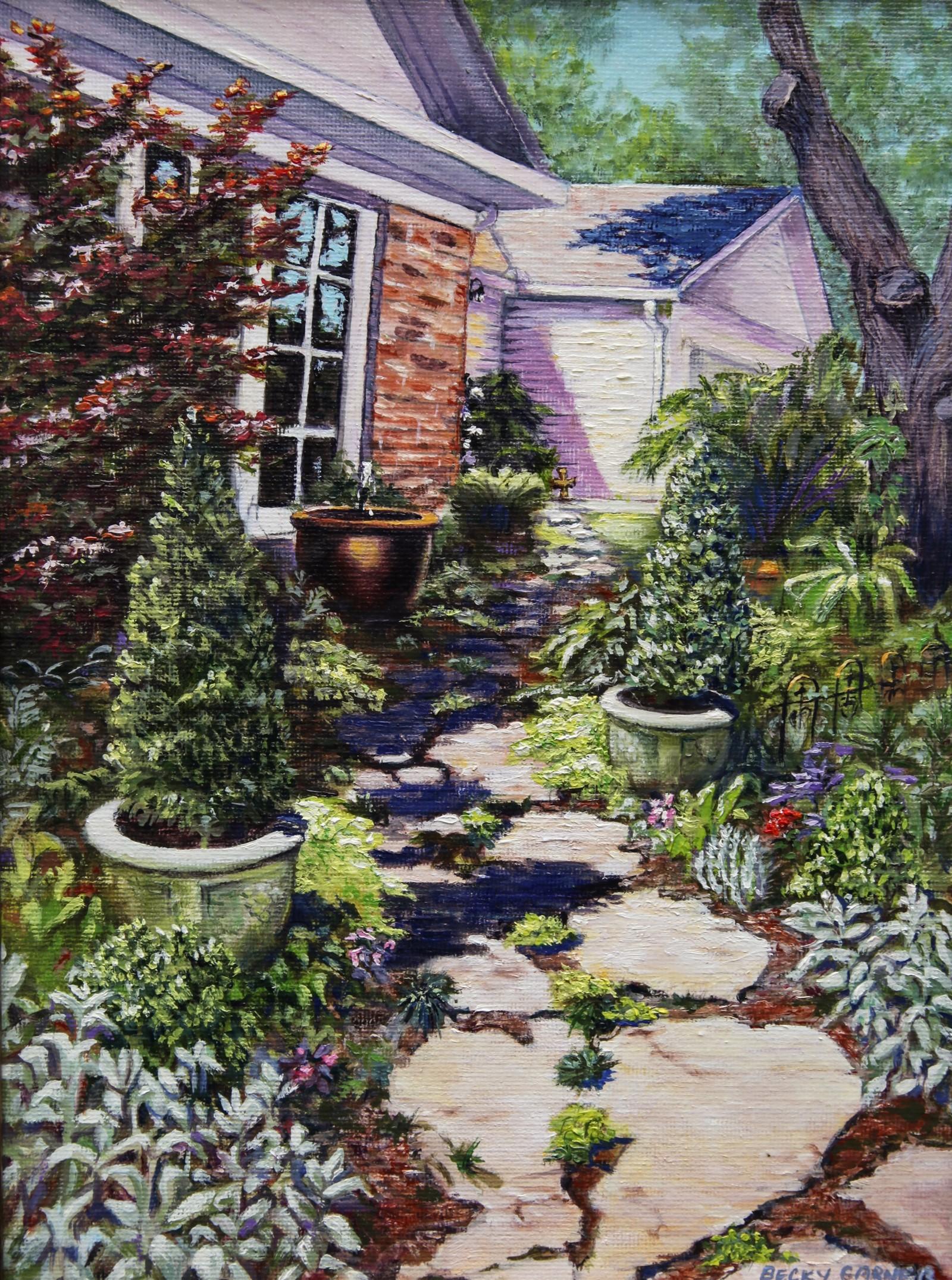 """""""Welcoming Garden"""" by Becky Garner"""