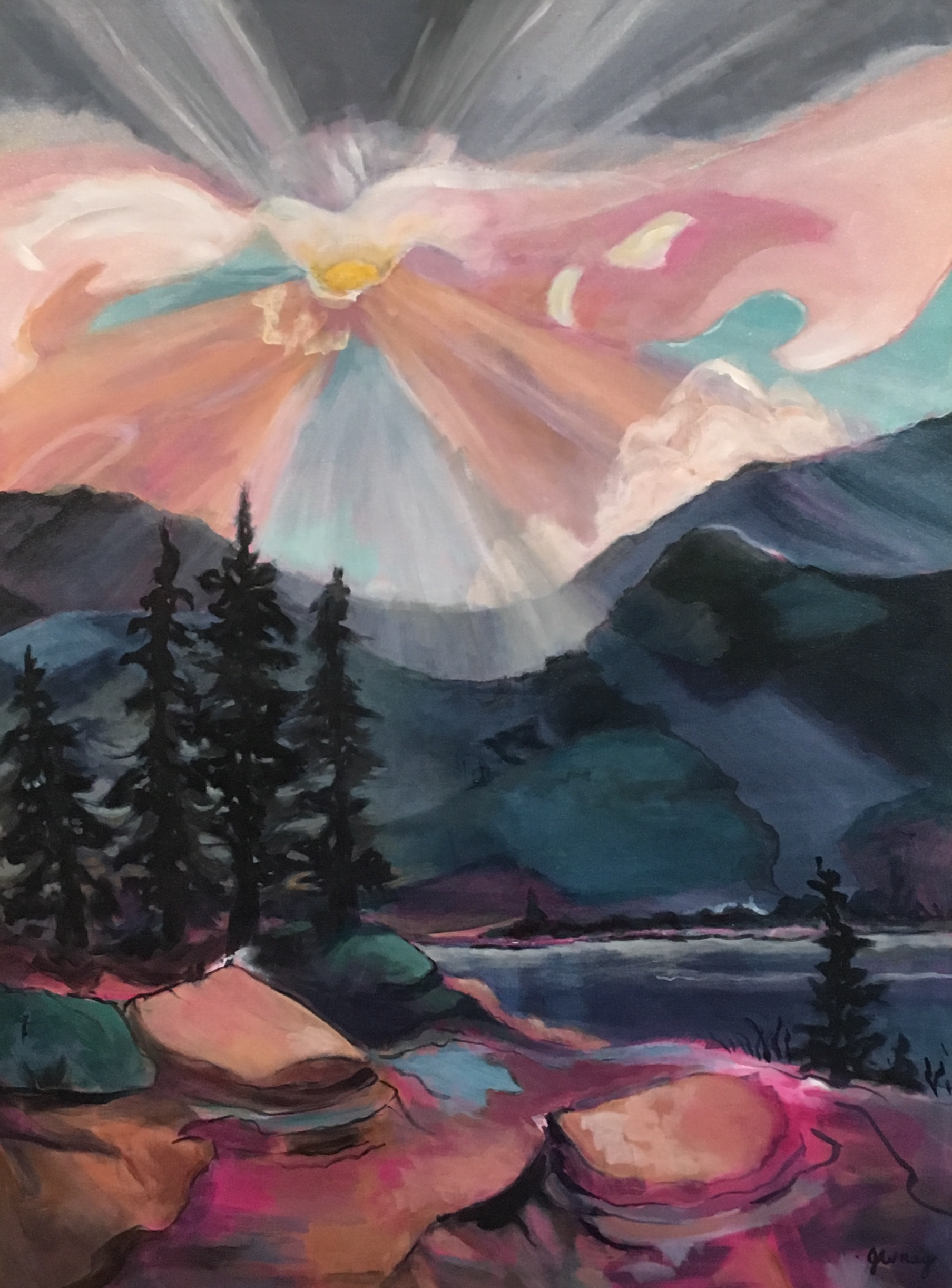 """Wild Sunset"" by Jerry Wray"