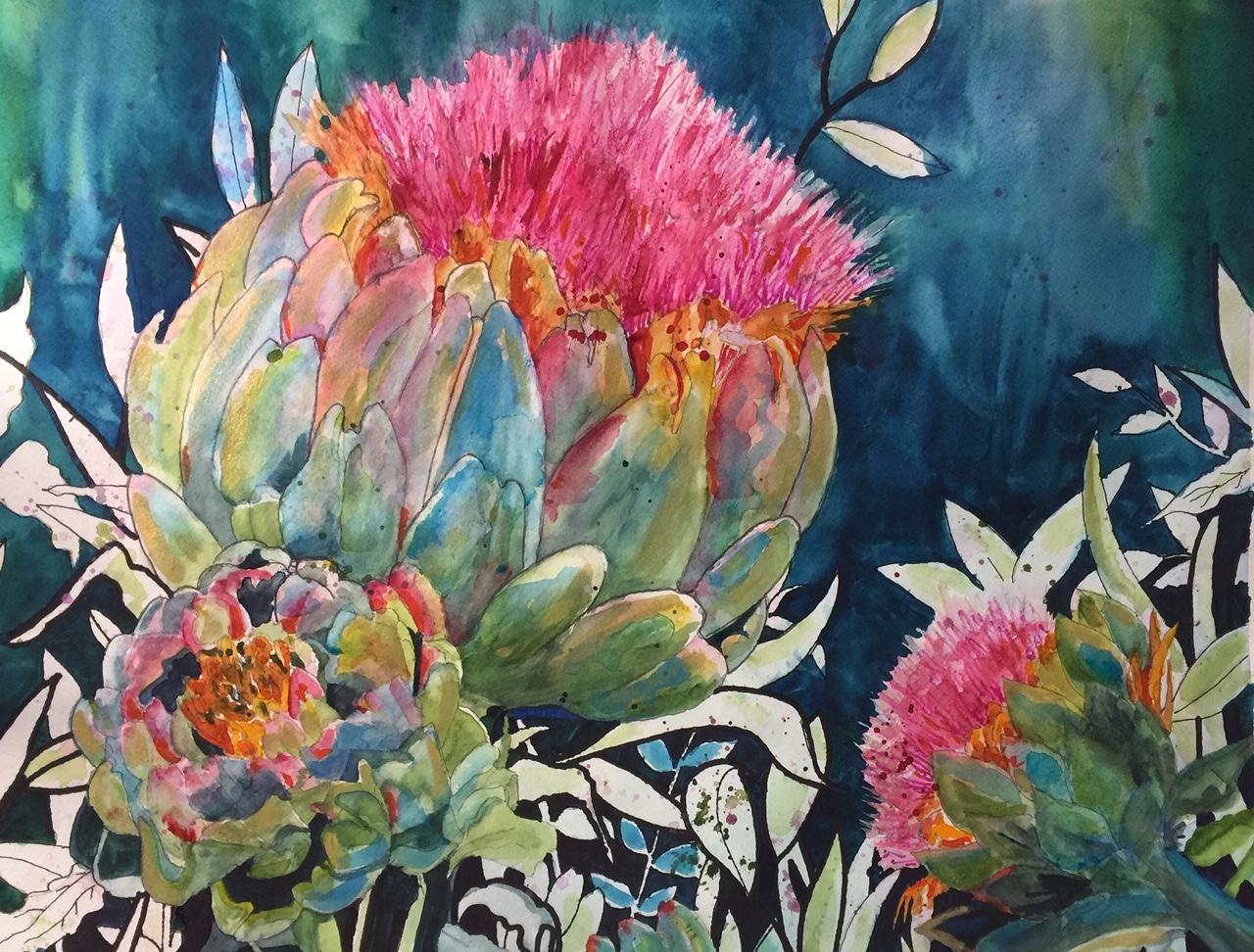 """""""Artichoke in Bloom"""" by Carol Pace"""