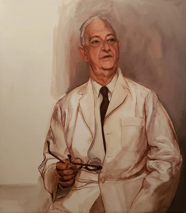 This is a portrait of Dr. Samuel Potts painted by Gwen Norsworthy some years ago. The Norsworthy Gallery co-owners, Chris and Christine Bailey, are seeking any members of the Potts family who may have more information. Please contact us at 318.424.6764! #fineart #portrait @norsworthygallery