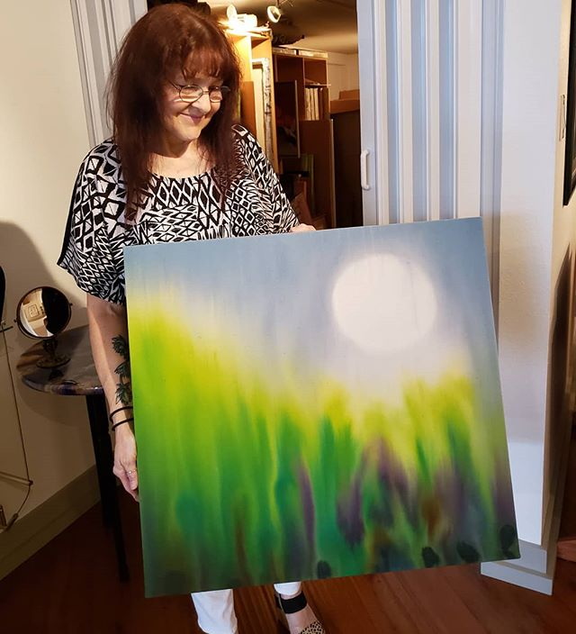 "SOLD! ""Sitting on the Moon"" by Represented Artist and Norsworthy Gallery Co-owner Christine Bailey has been collected. Thank you! #collectart #fineart @norsworthygallery #cooldowntown #artgallery #shreveport #louisiana #shopsmall #supportlocal"