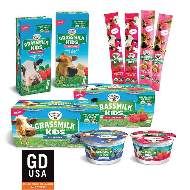 We're proud to share that our package design for our good friends @organicvalley won a GDUSA 2018 Package Award in Food & Beverage! Now that's good stuff.  #creatingstuffforgoodpeople #designaward #award #branding #packagedesign #packaging #design #kidsstuff #kids #healthy #GDUSA #graphic design #organic #food #haystackstudios #creative