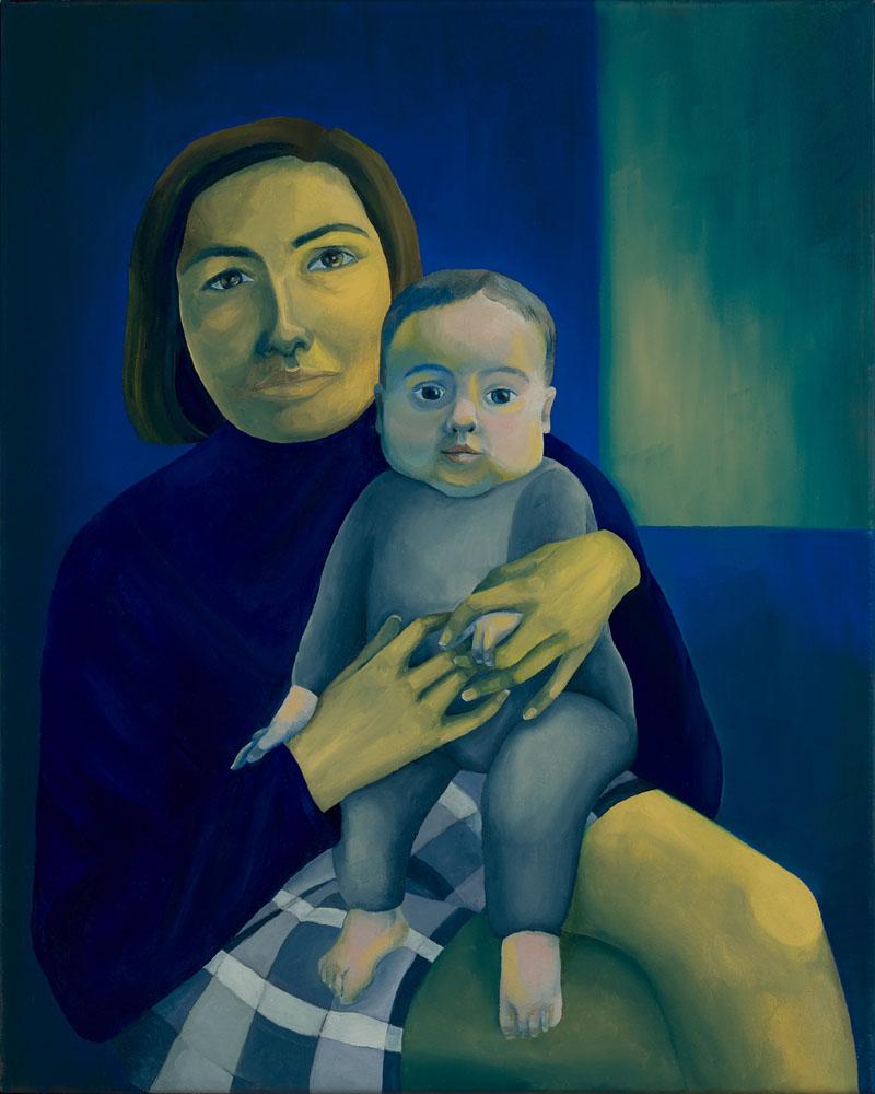 Kate & Millie , 2019  40 x 50 cm, oil on canvas