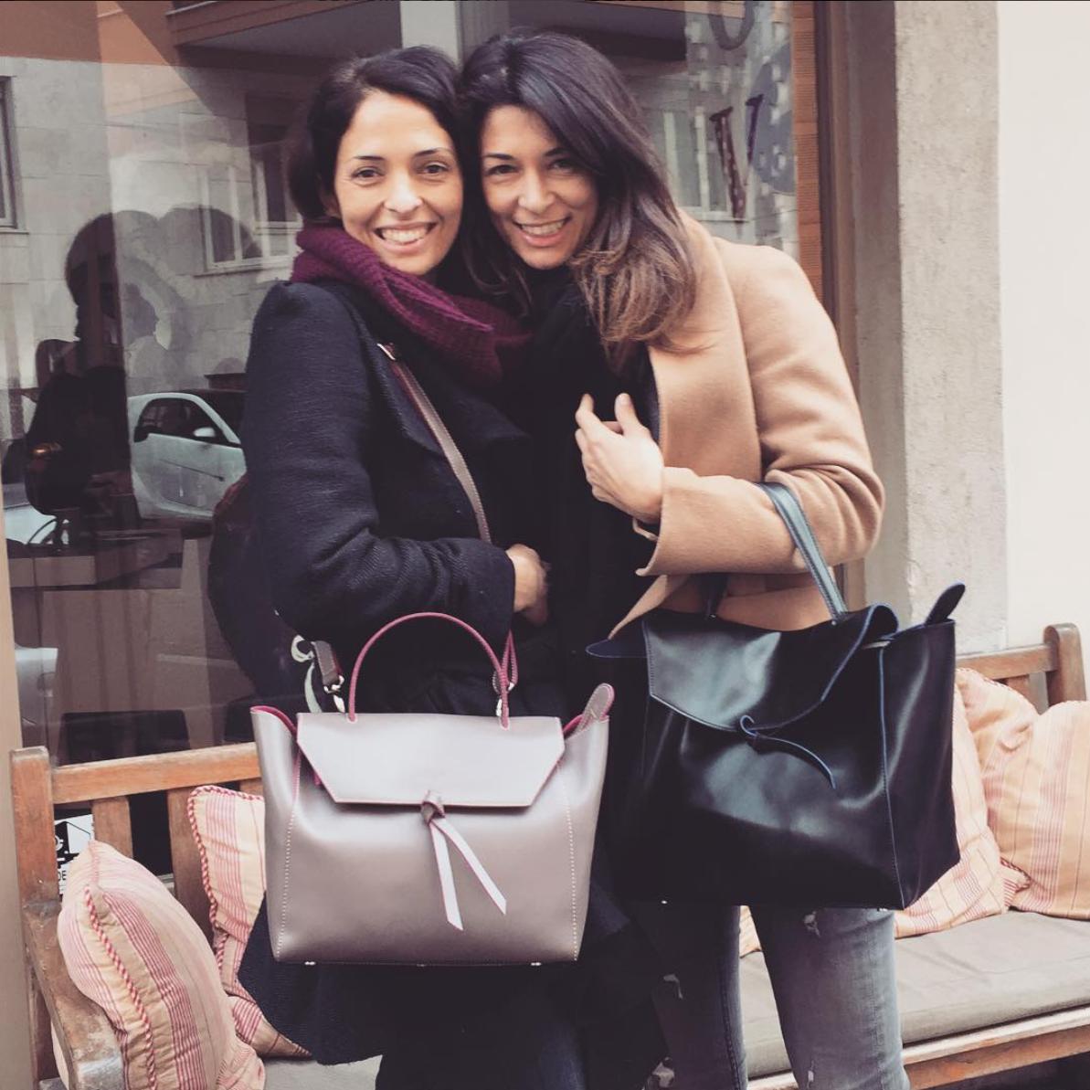@alexandradecurtis Alexandra and her sister Giulia - #Satchel twins!