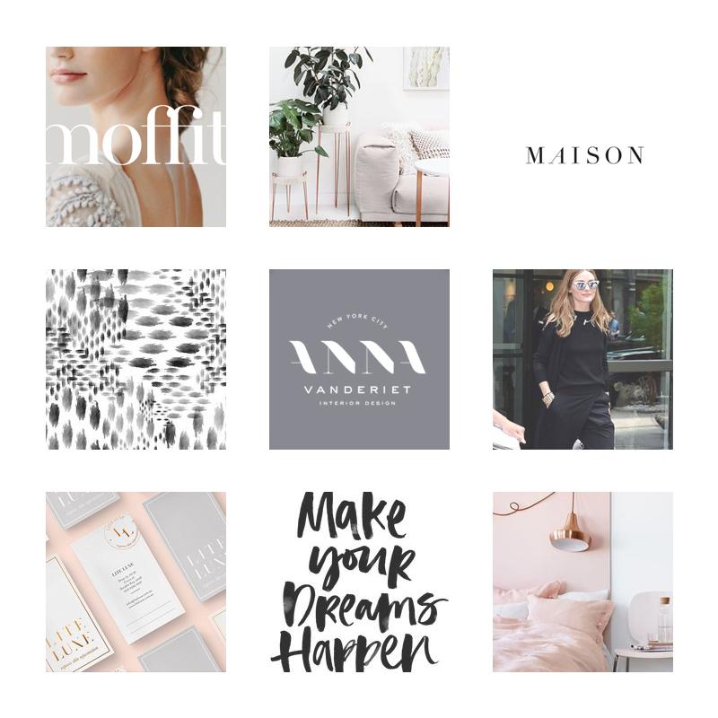 Alexandra de Curtis 2017 Brand Refresh, the mood board