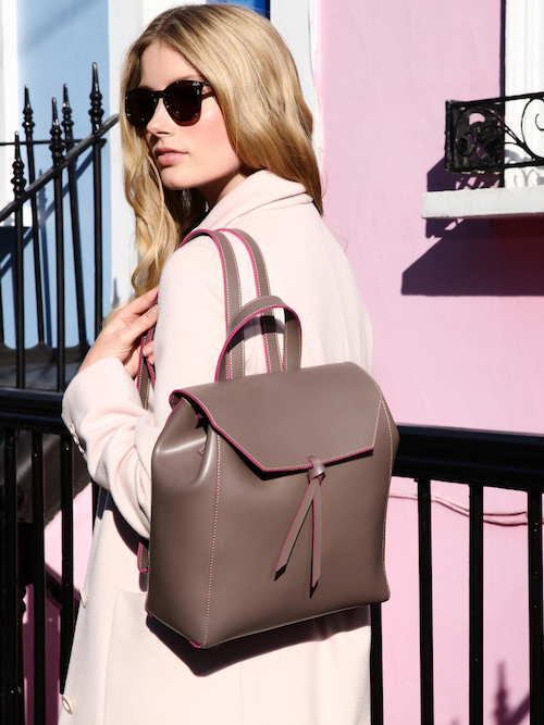 Alexandra de Curtis Taupe Pink Backpack 8 Ways to wear pink in a grown up way