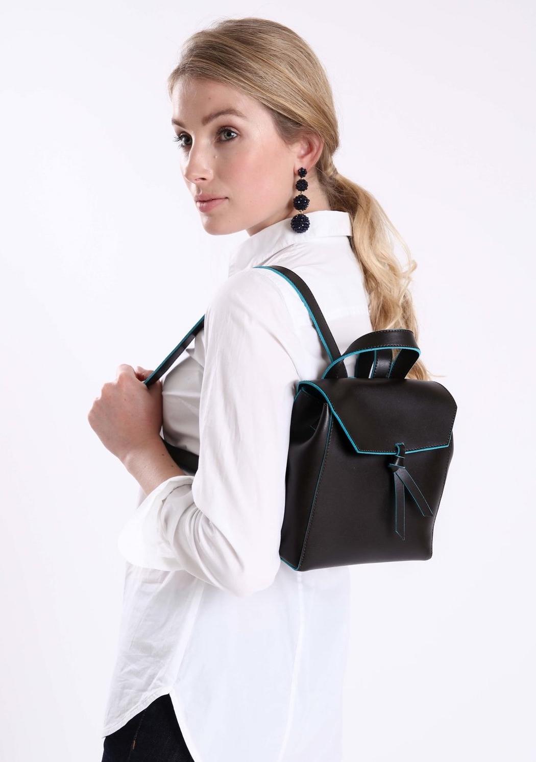 Alexandra de Curtis Brown Mini Backpack