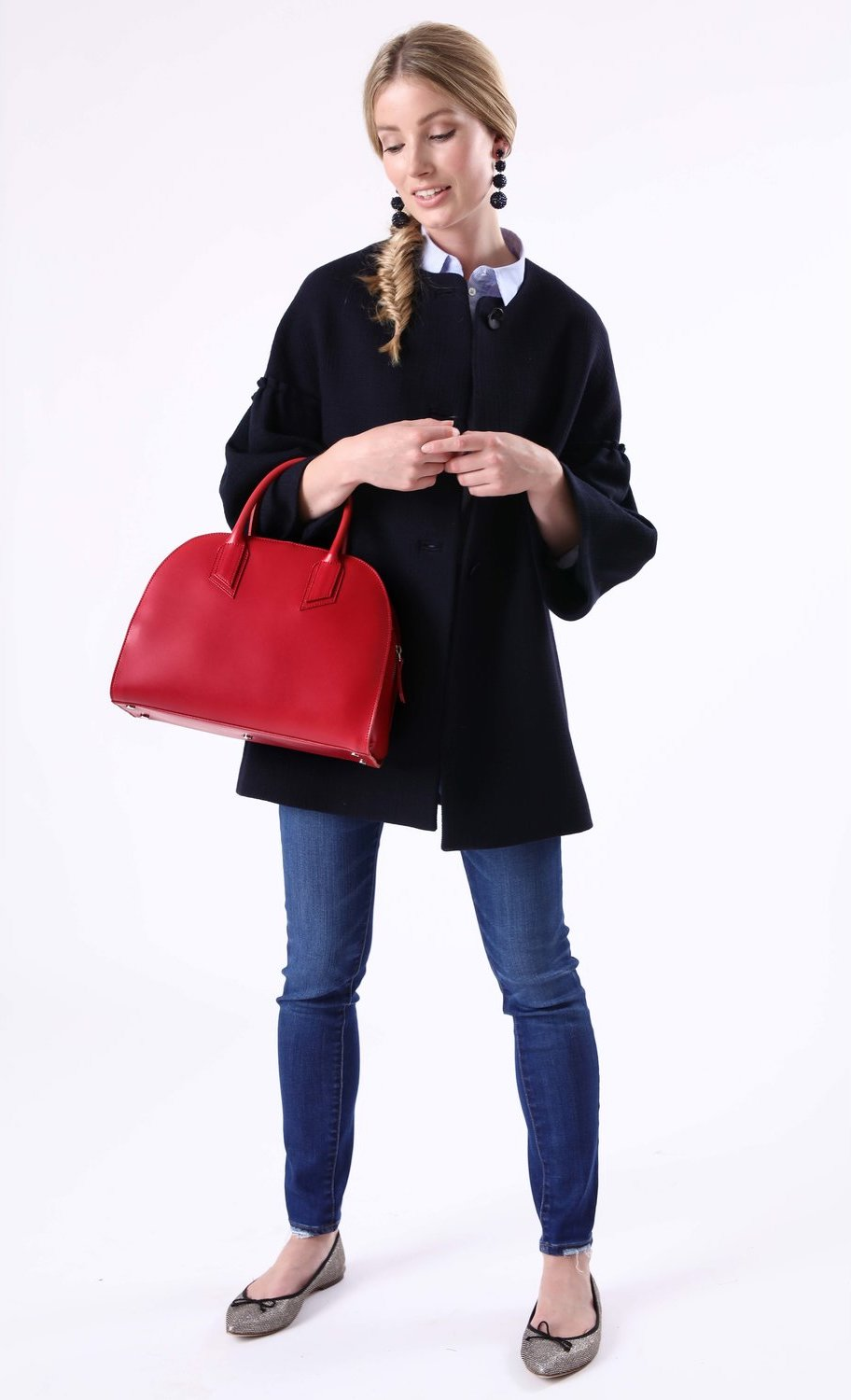 Alexandra de Curtis Red Bowling Bag