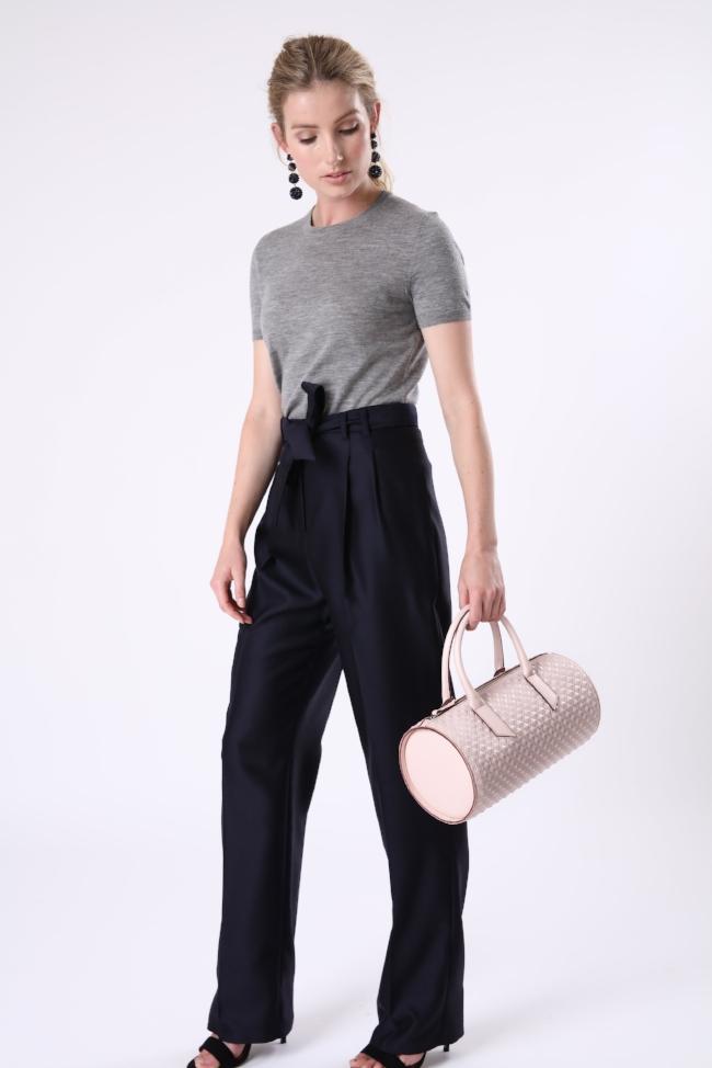 Alexandra de Curtis Blush Pink Scudo Duffle Bag