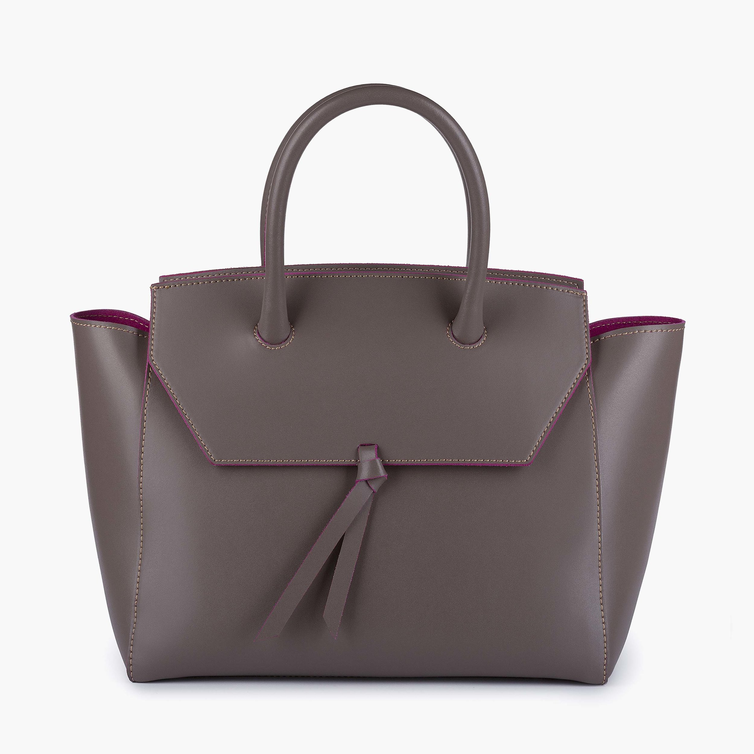 The Midi Loren Tote in Taupe.
