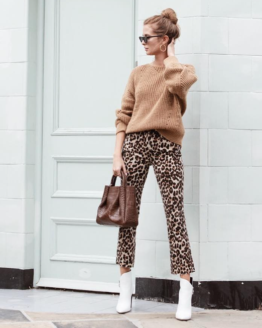Millie Mackintosh wears the Brown Croc Midi Ruched Tote