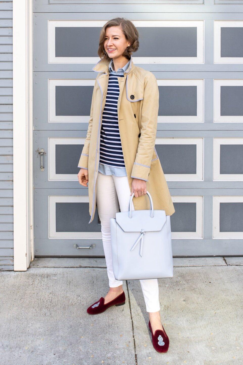Alexandra de Curtis Sky Blue Tall Loren Tote Leather Handbag work tote