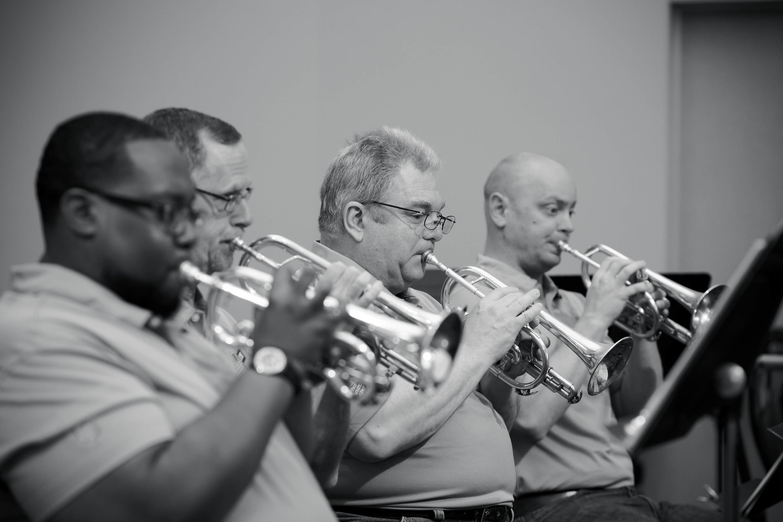 Back row cornets