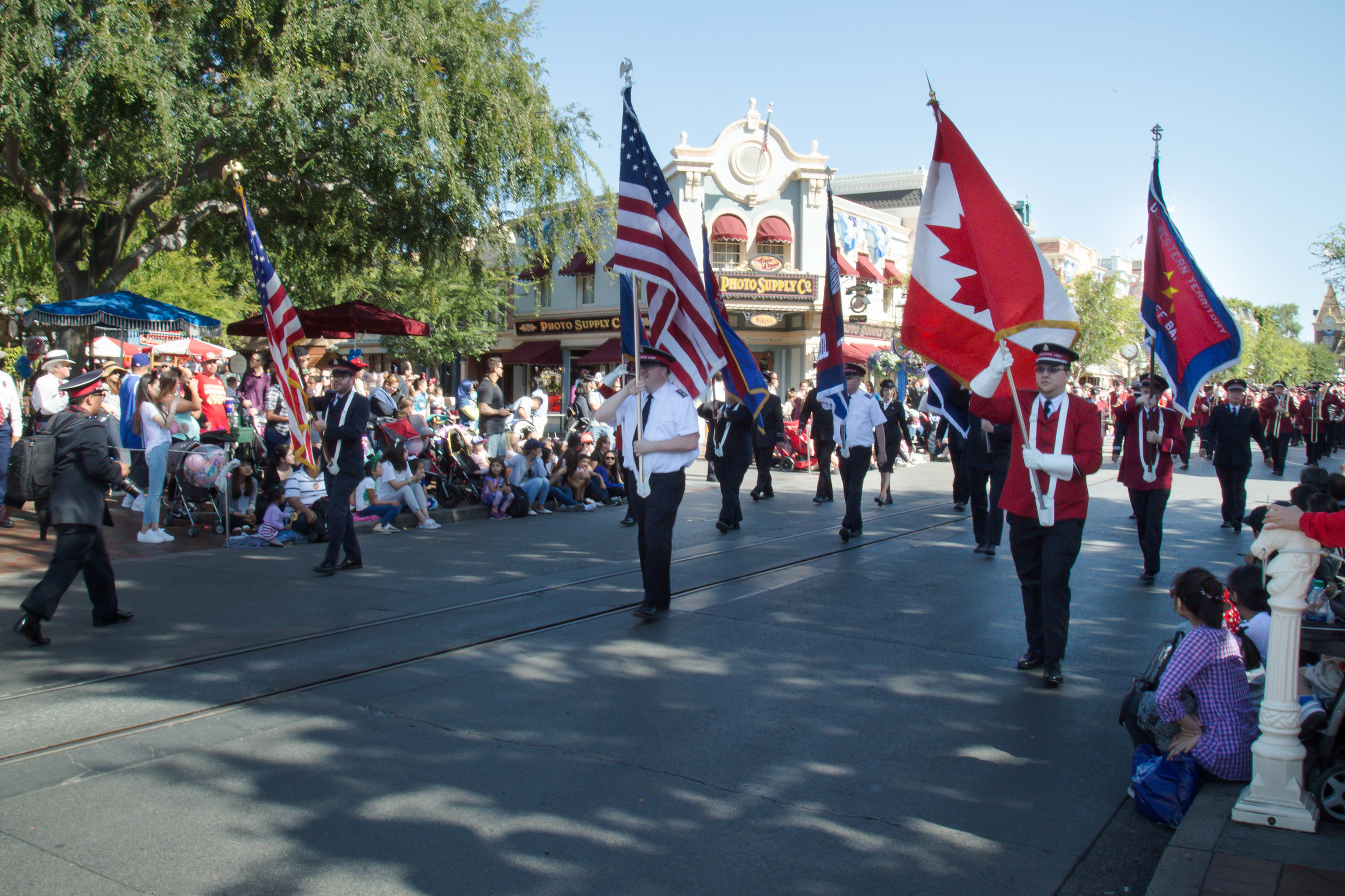 On the march at Disneyland