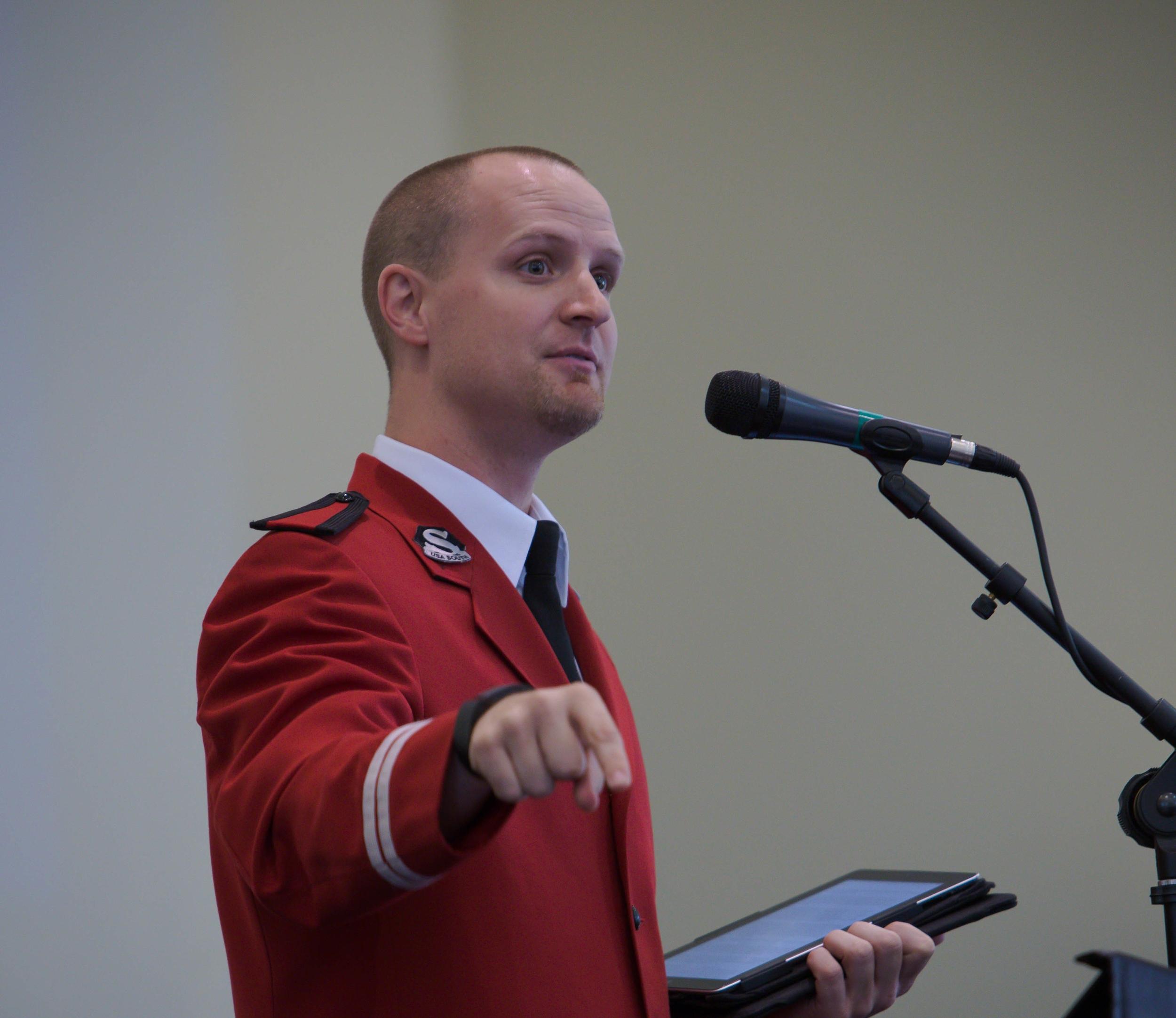 Jeremy Rowland giving his testimony