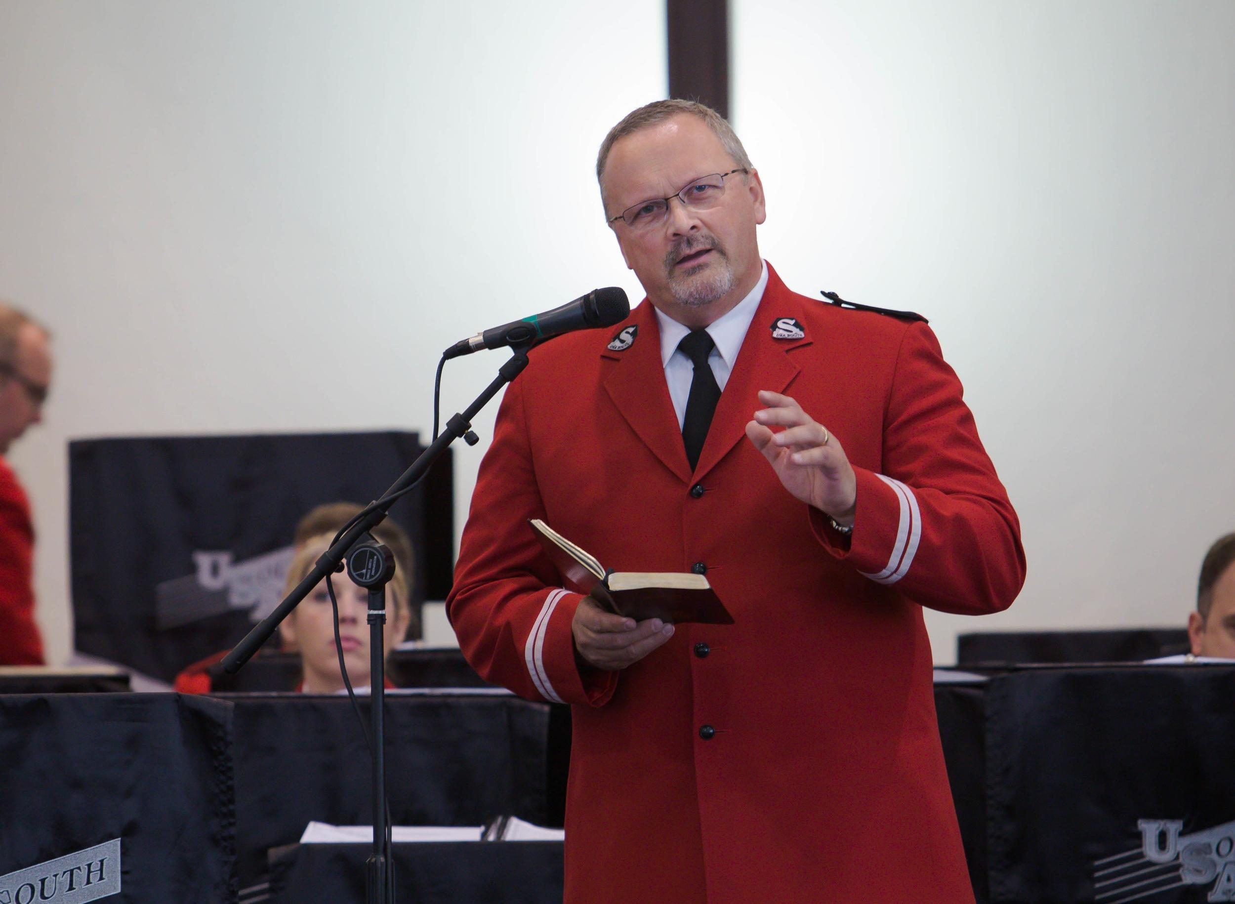 Band chaplain Captain Michael Harris
