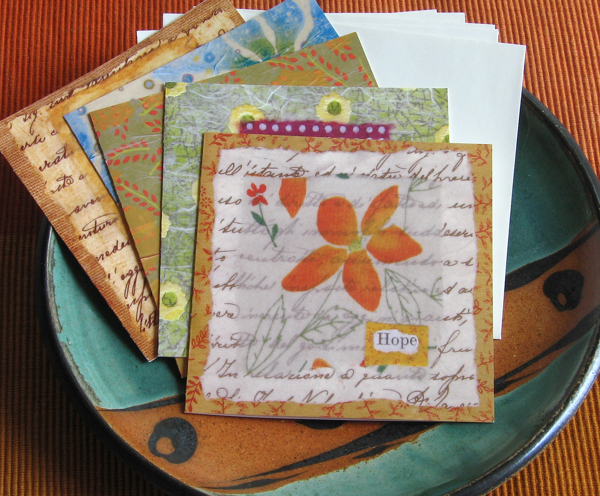 Pack of 5 note cards