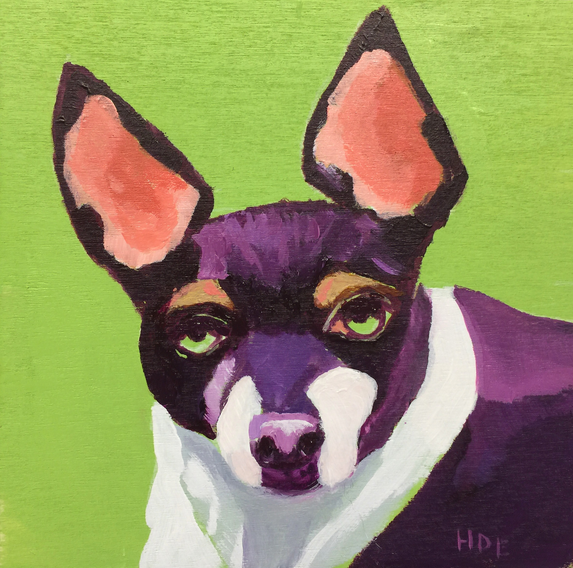 "Heather Earnest's,   Pep Pep  , 6"" x 6""  ( We miss this little girl!)"