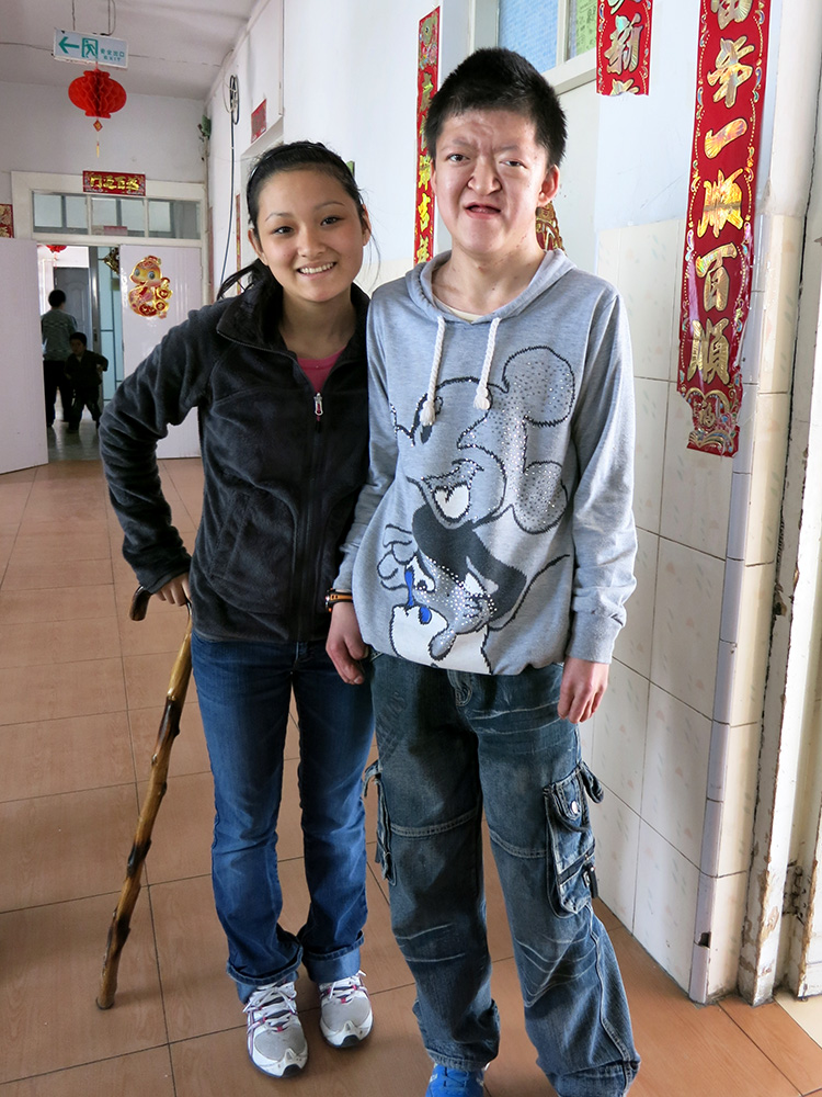 BinBin was about two years old when Meizi left Xining Children's Home, he's fourteen now and taller than she is!
