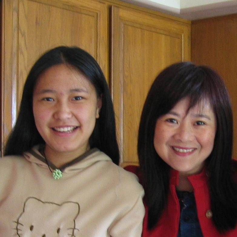 Bingjie with Mrs. Siew Mei Cheung