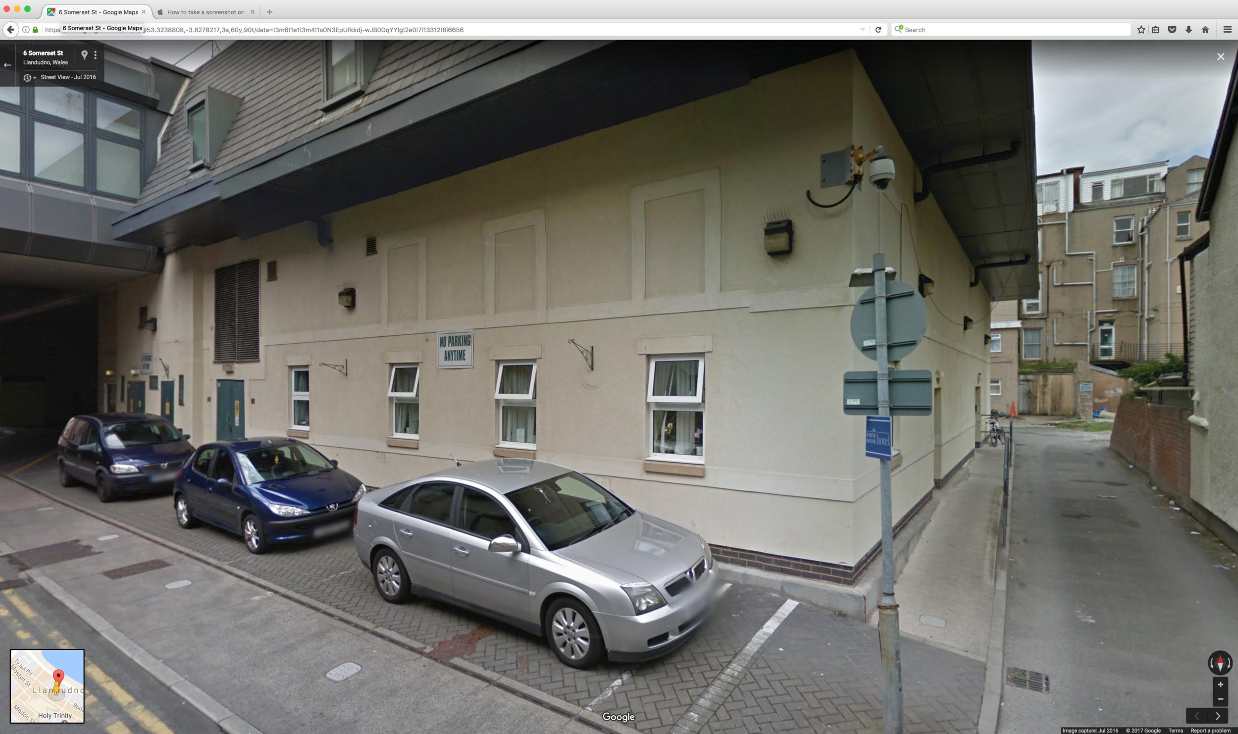 6 Somerset Street, the centre of Llandudno according to Google
