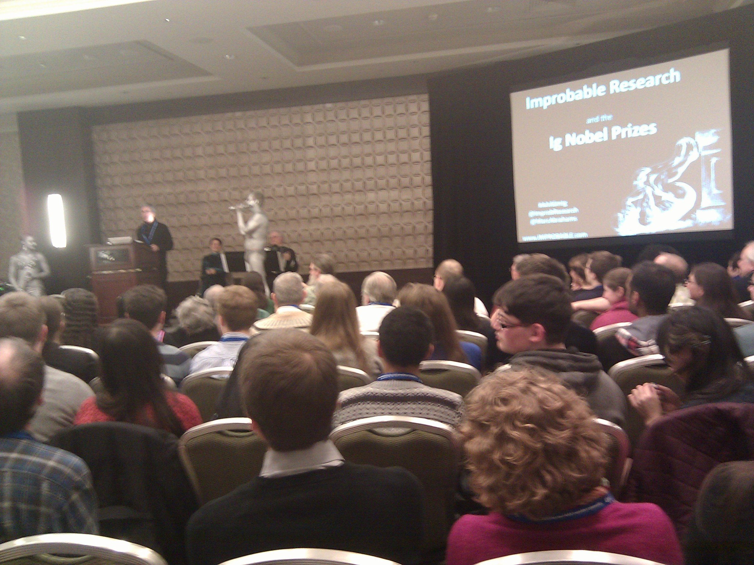 Ig Nobel Prize winners presentation at AAAS 2013