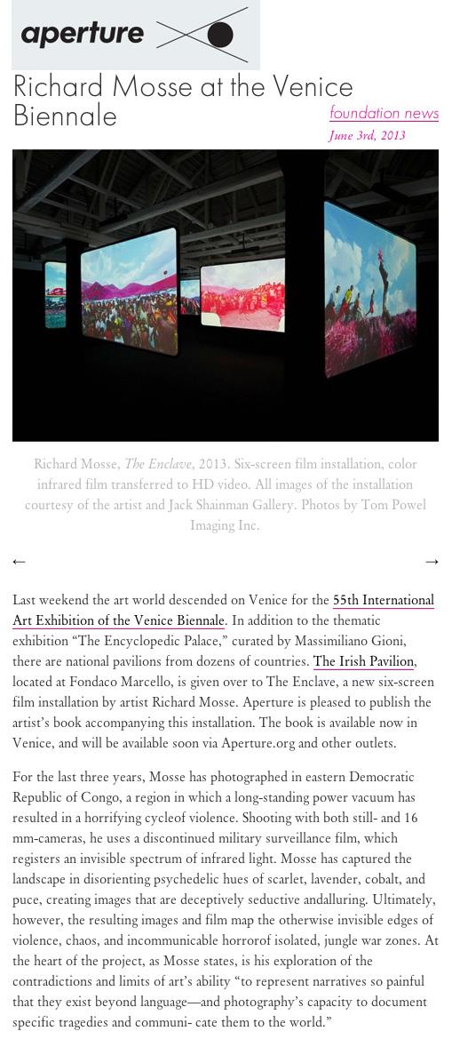 Aperture_RMO_Richard Mosse at the Venice Biennale060313.jpg
