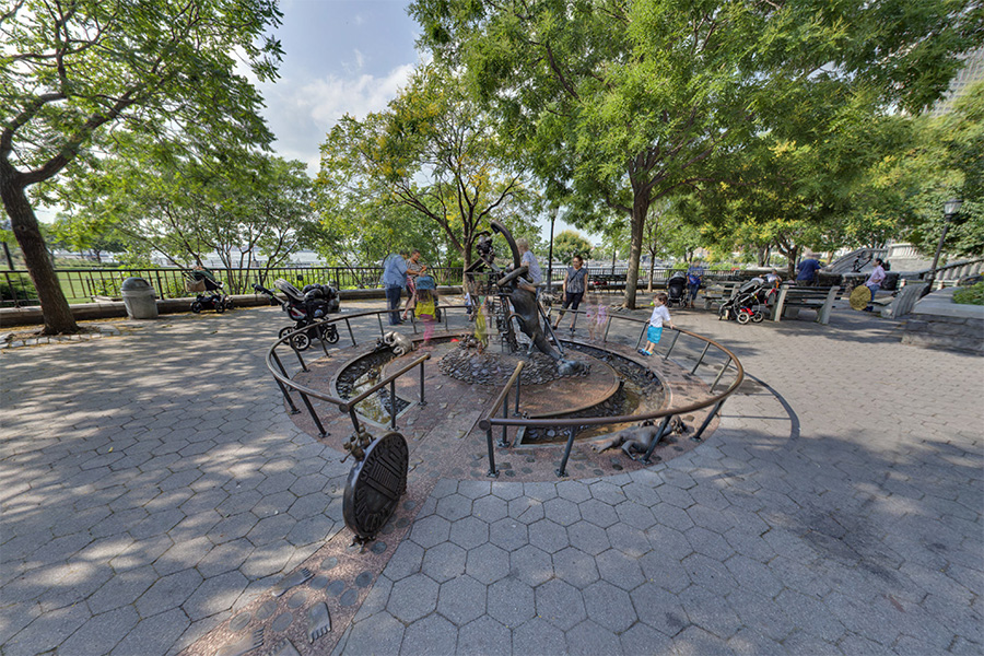 Tom Otterness: The Real World ,Battery Park City, 2014